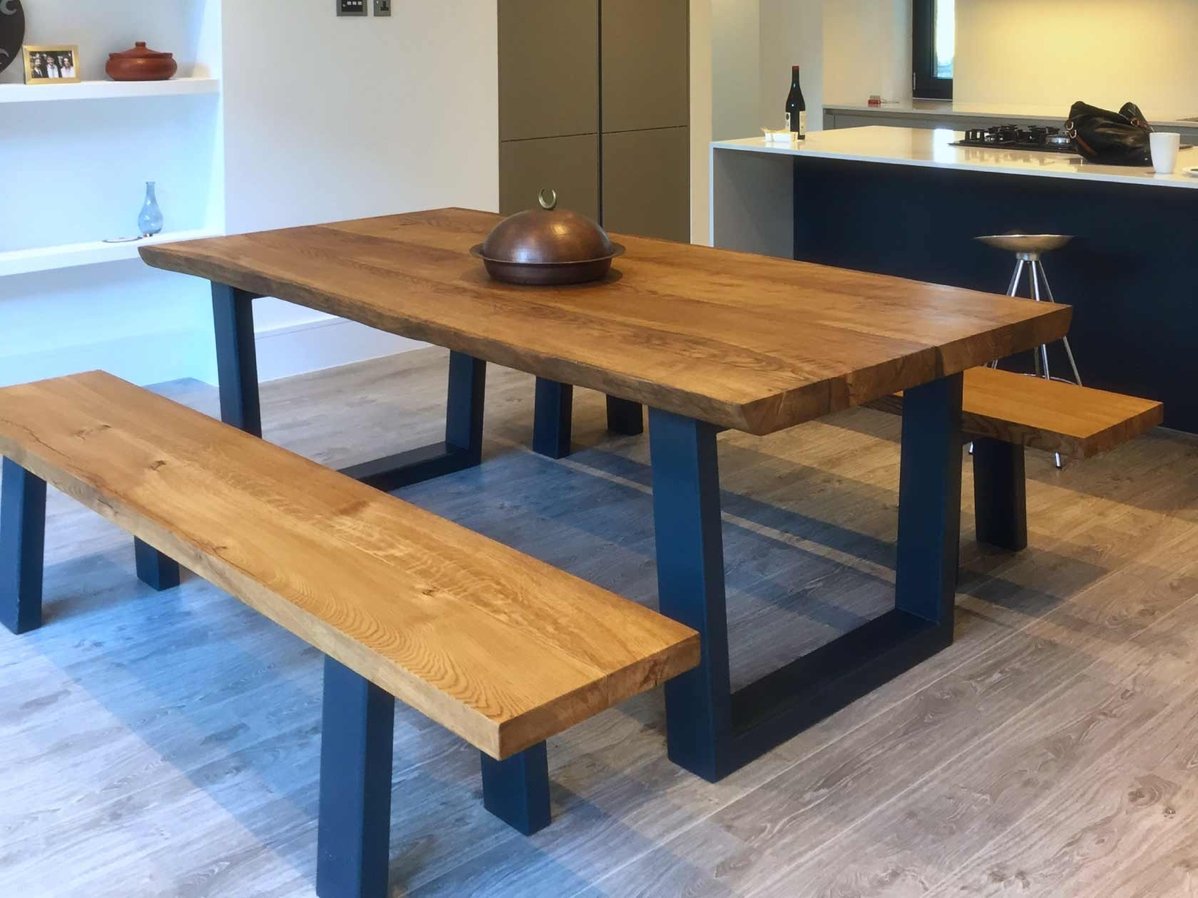 Rustic Dining Tables With Most Recently Released Rustic Dining Table Set With Bench (View 18 of 25)