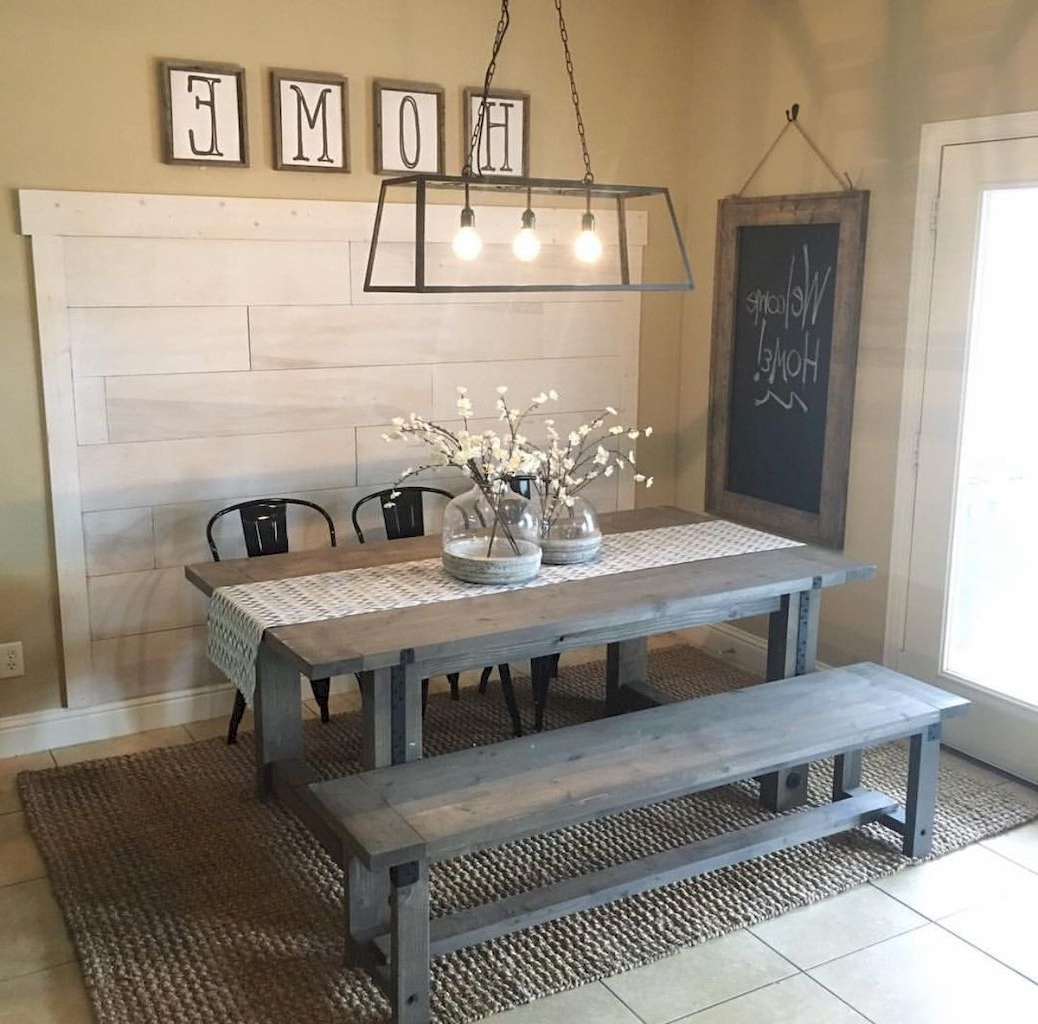 Rustic Dining Tables With Regard To Most Up To Date Cool 70 Lasting Farmhouse Dining Room Table And Decorating Ideas (View 20 of 25)