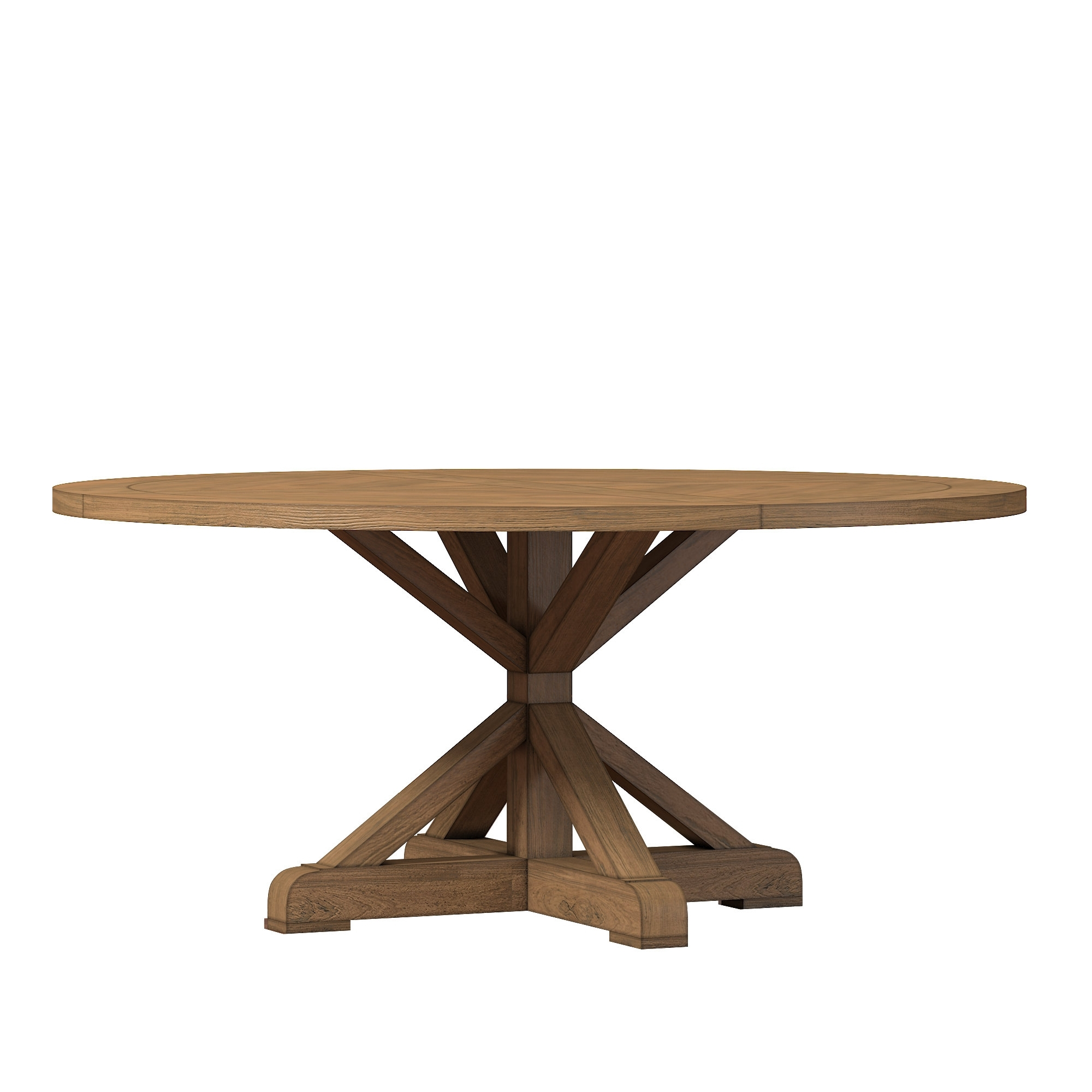 Rustic Dining Tables Within Newest Lark Manor Peralta Round Rustic Dining Table & Reviews (View 23 of 25)
