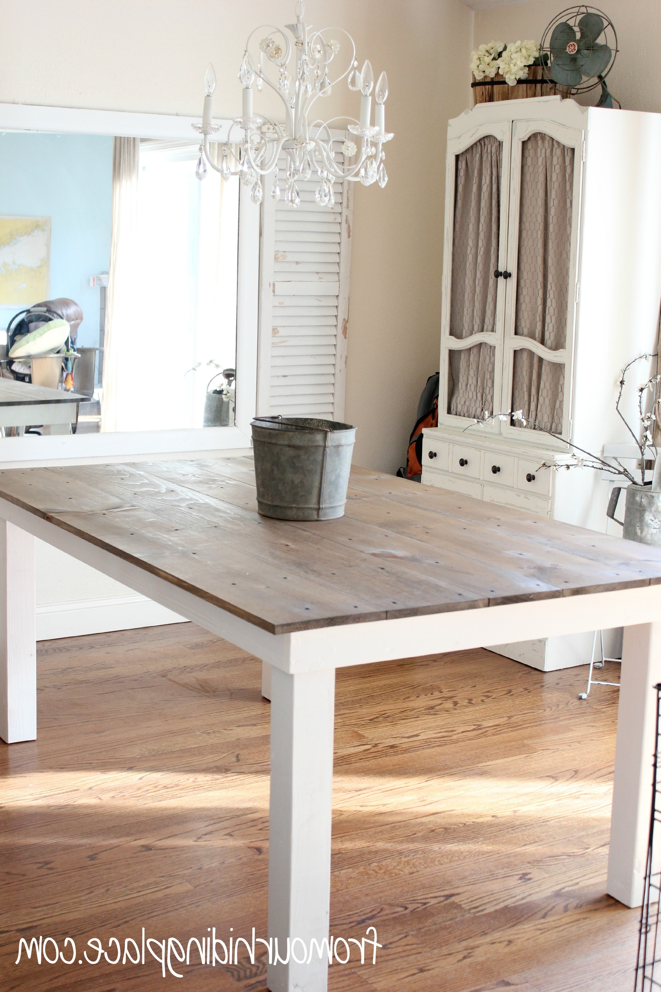 Rustic Farmhouse Table – Diy Projects With Regard To Most Popular Dining Tables With White Legs (View 12 of 25)