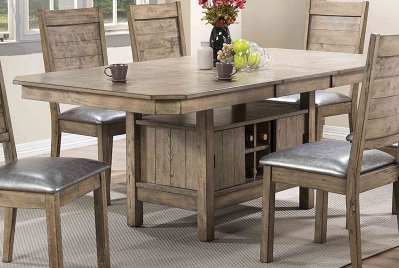 Rustic Oak Dining Tables With Well Liked Acme Furniture Ramona Rectangular Dining Table In Rustic Oak  (View 9 of 25)