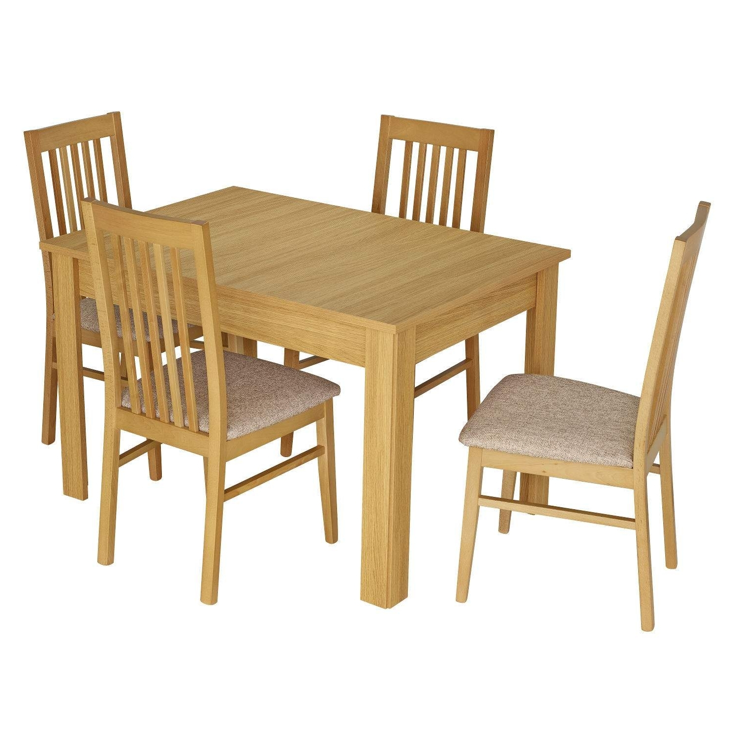 Salou Small Extending Dining Table With 4 Chairs Next Wooden Dining Inside Widely Used Small Extending Dining Tables And Chairs (View 18 of 25)