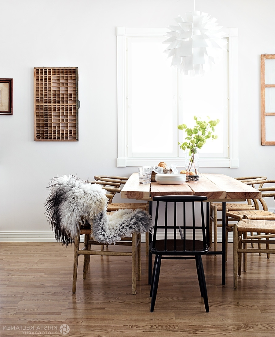 Scandinavian Dining Tables And Chairs With Most Popular Awesome Scandinavian Dining Room Features Rectangle Shape Brown (View 21 of 25)