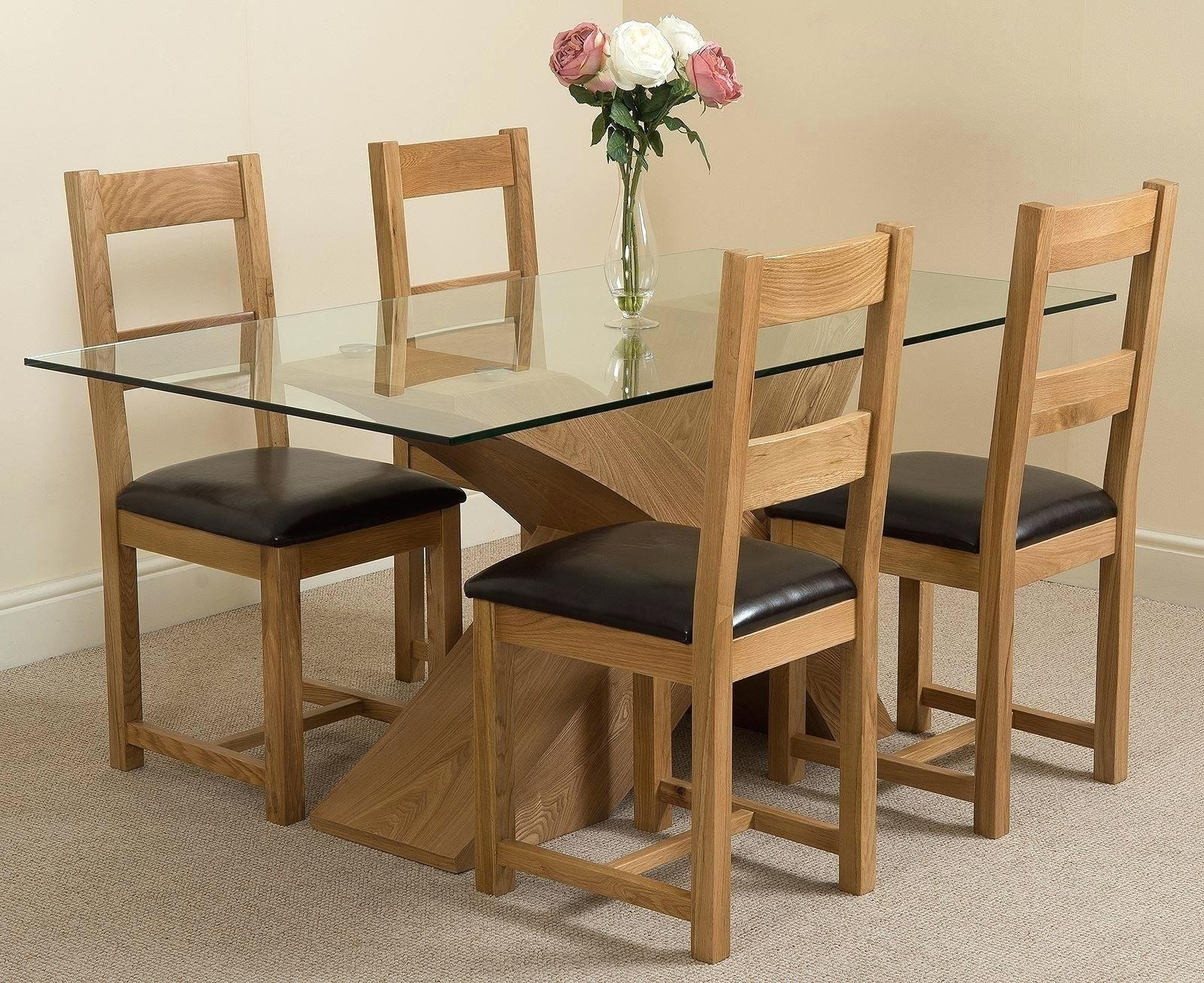 Second Hand Oak Dining Chairs Throughout Current Chair : Light Oak Dining Table And Chairs Second Hand Furniture Uk (View 22 of 25)