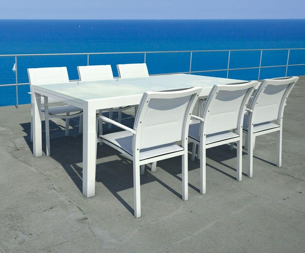 Sense Patio Extendable Table Outdoor Furniture (View 18 of 25)