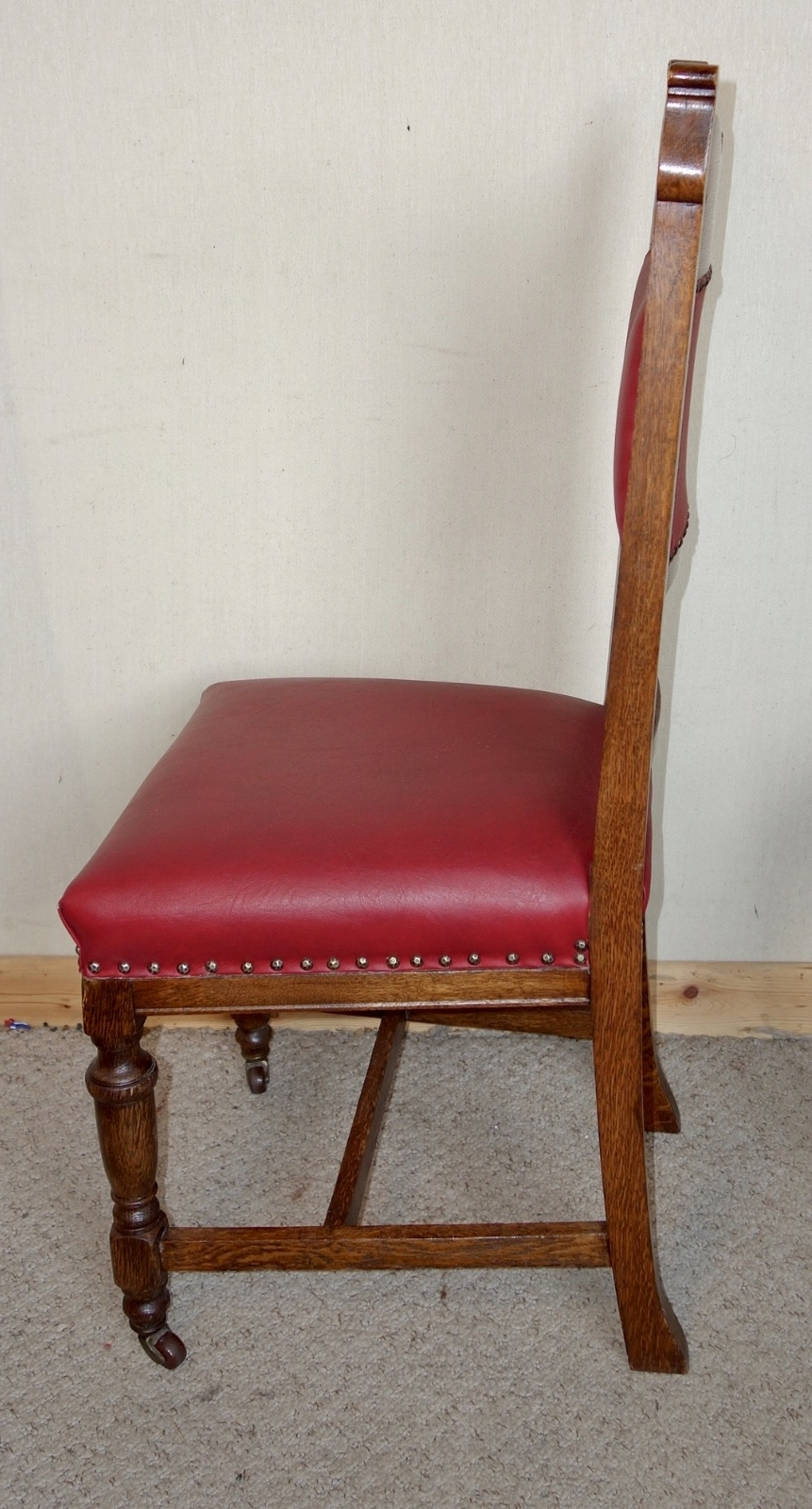 Set Of 6 Edwardian Oak Leather Dining Chairs C (View 25 of 25)