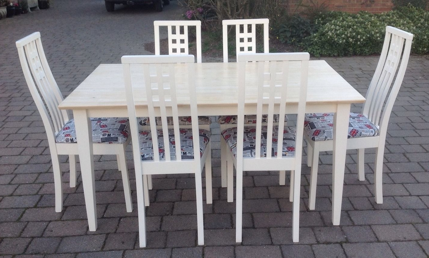 Shabby Chic Cream Dining Tables And Chairs Within Preferred Shabby Chic Table And Chairs (View 9 of 25)