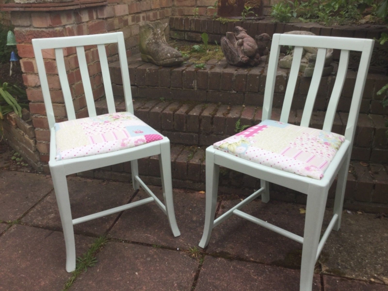 Shabby Chic Dining Chairs Regarding Best And Newest Pair Of Shabby Chic Dining Chairs – £ (View 21 of 25)