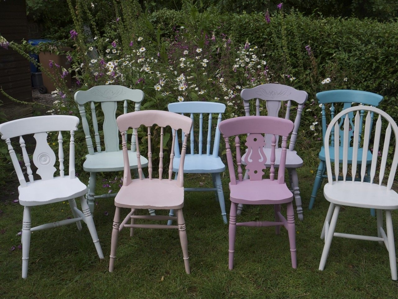 Shabby Chic Dining Chairs With Regard To Popular Shabby Chic Vintage Dining Chairs Made To Orderemily Rose (View 22 of 25)