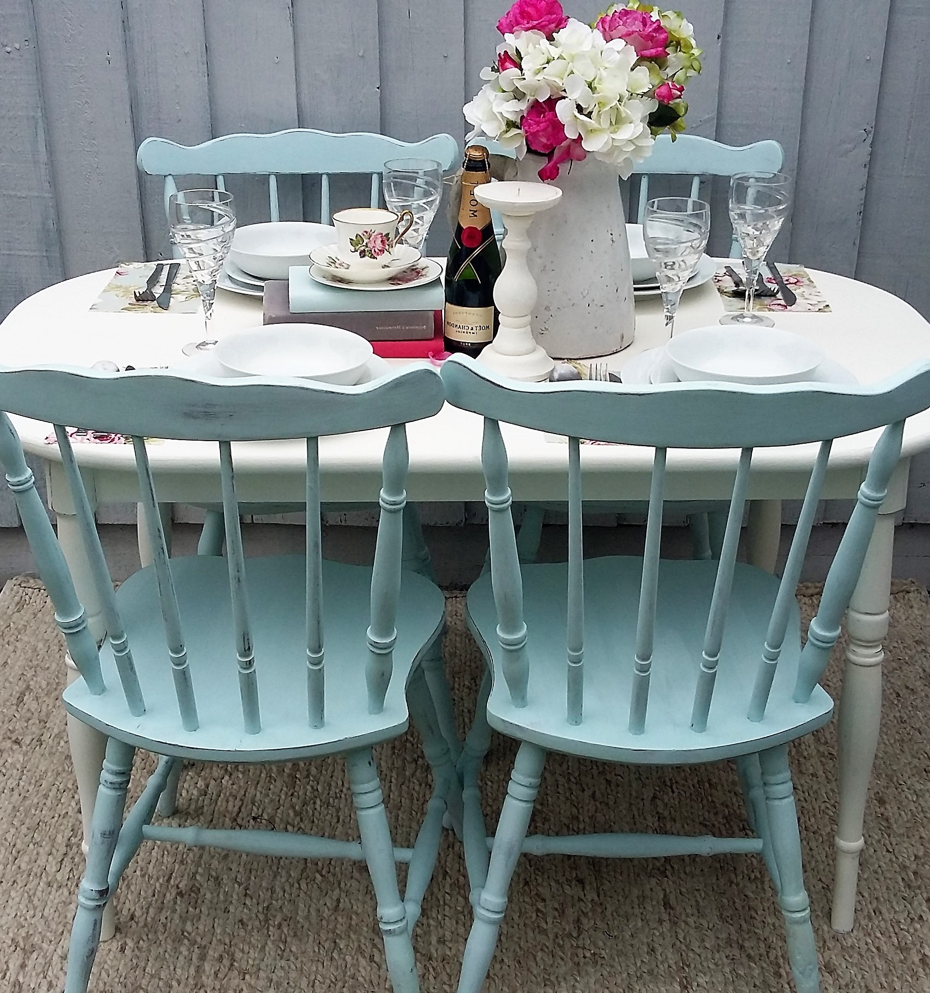 Shabby Chic Dining Sets For Widely Used Shabby Chic/vintage Dining Table & Chairs (View 12 of 25)