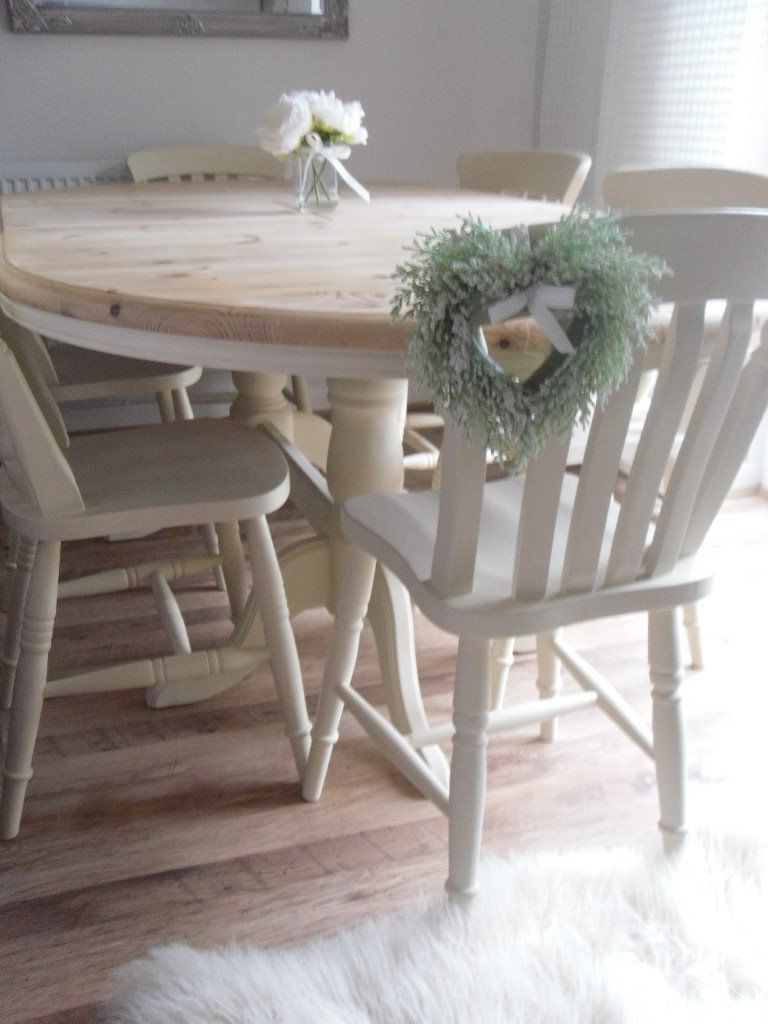 Shabby Chic Extendable Dining Table Wit Shabby Chic Dining Table And Pertaining To Recent Shabby Chic Extendable Dining Tables (View 11 of 25)