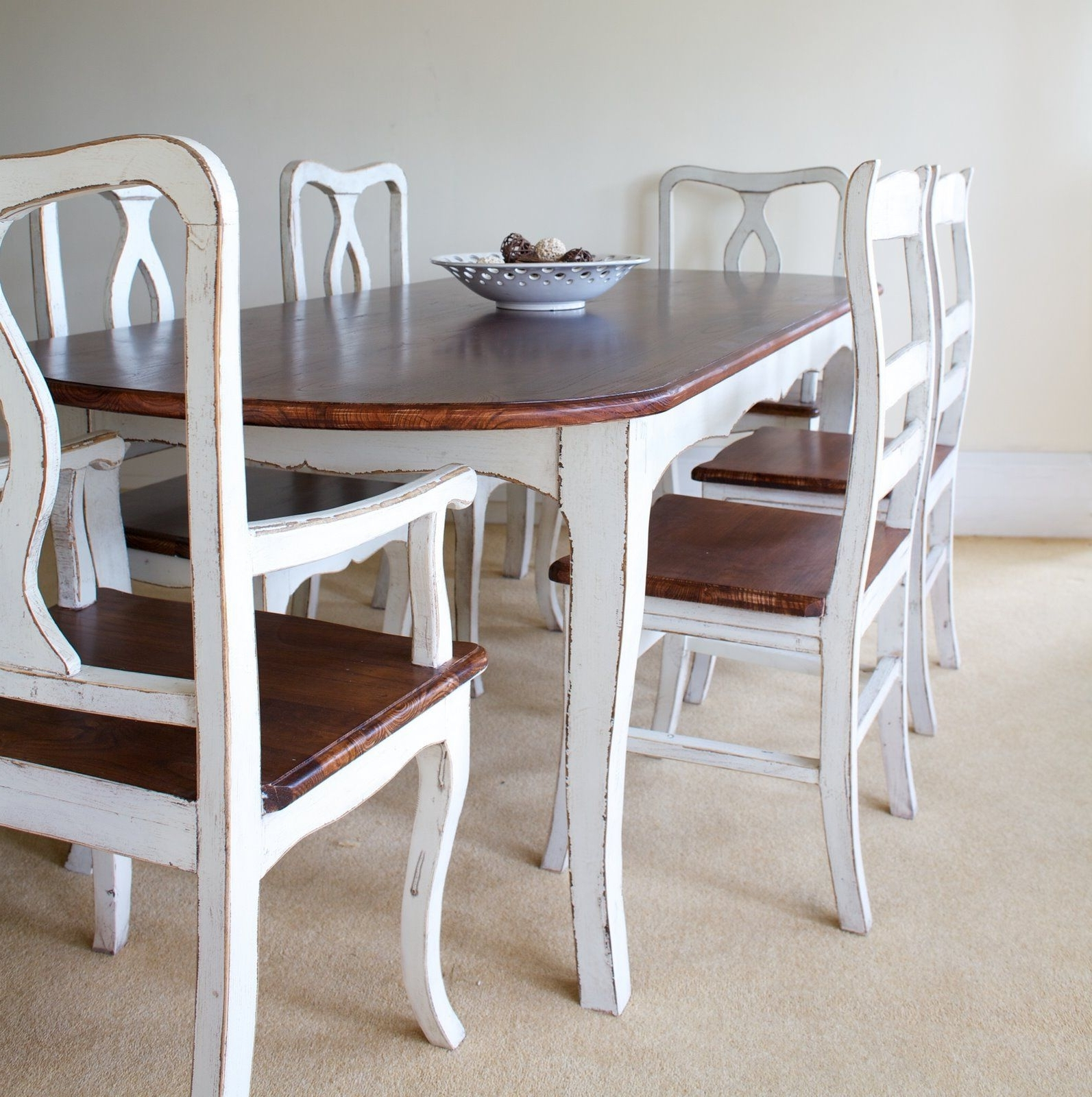 Shabby Dining Tables And Chairs Within Widely Used Furniture : Palejay Diy Shabby Chic Dining Table Part Shabby Chic (View 9 of 25)
