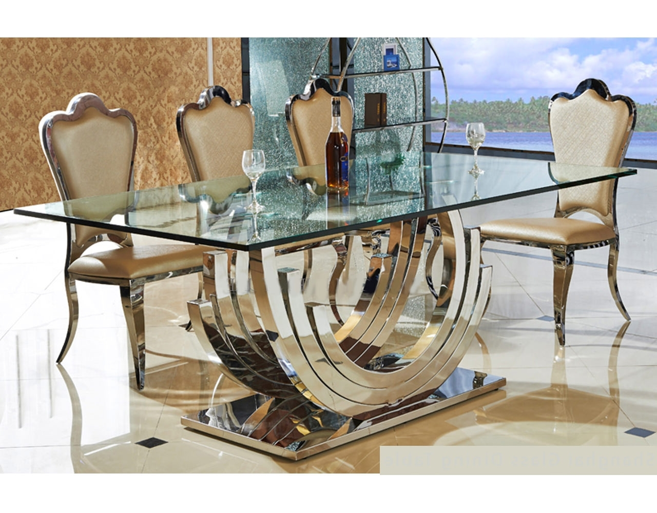Shanghai Glass Dining Table – Aura – Modern Beds And Bedroom With Regard To Most Up To Date Perth Dining Tables (View 18 of 25)