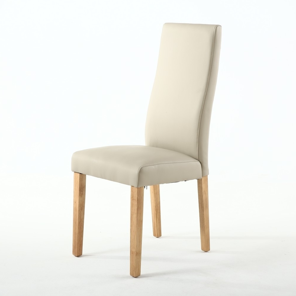 Shankar With Regard To Ivory Leather Dining Chairs (View 17 of 25)