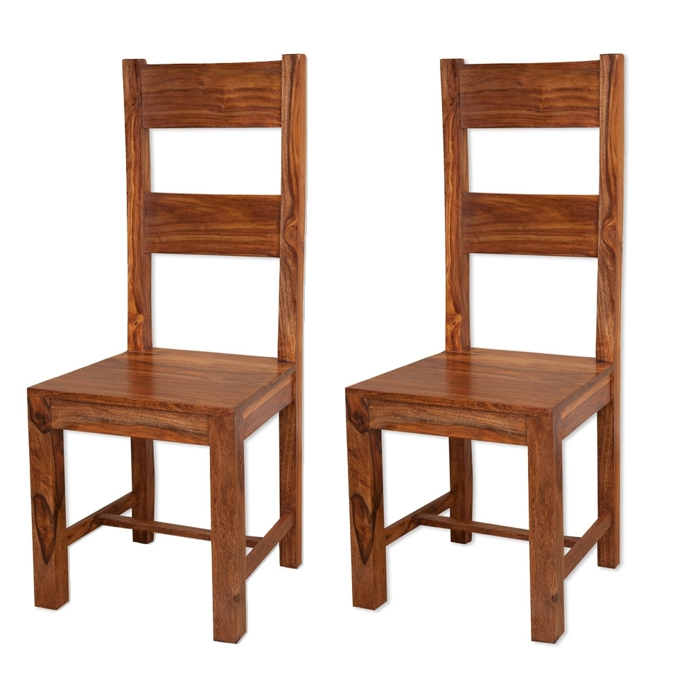 Sheesham Dining Chairs Inside Trendy Buy Villa Rustic Sheesham Dining Chair (Pair) Online – Cfs Uk (View 21 of 25)