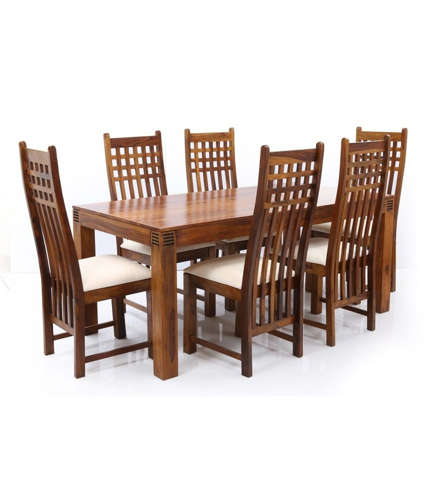 Sheesham Dining Chairs Pertaining To 2017 Ethnic India Art Nia Sheesham Wood 6 Seater Dining Set – Buy Ethnic (View 17 of 25)