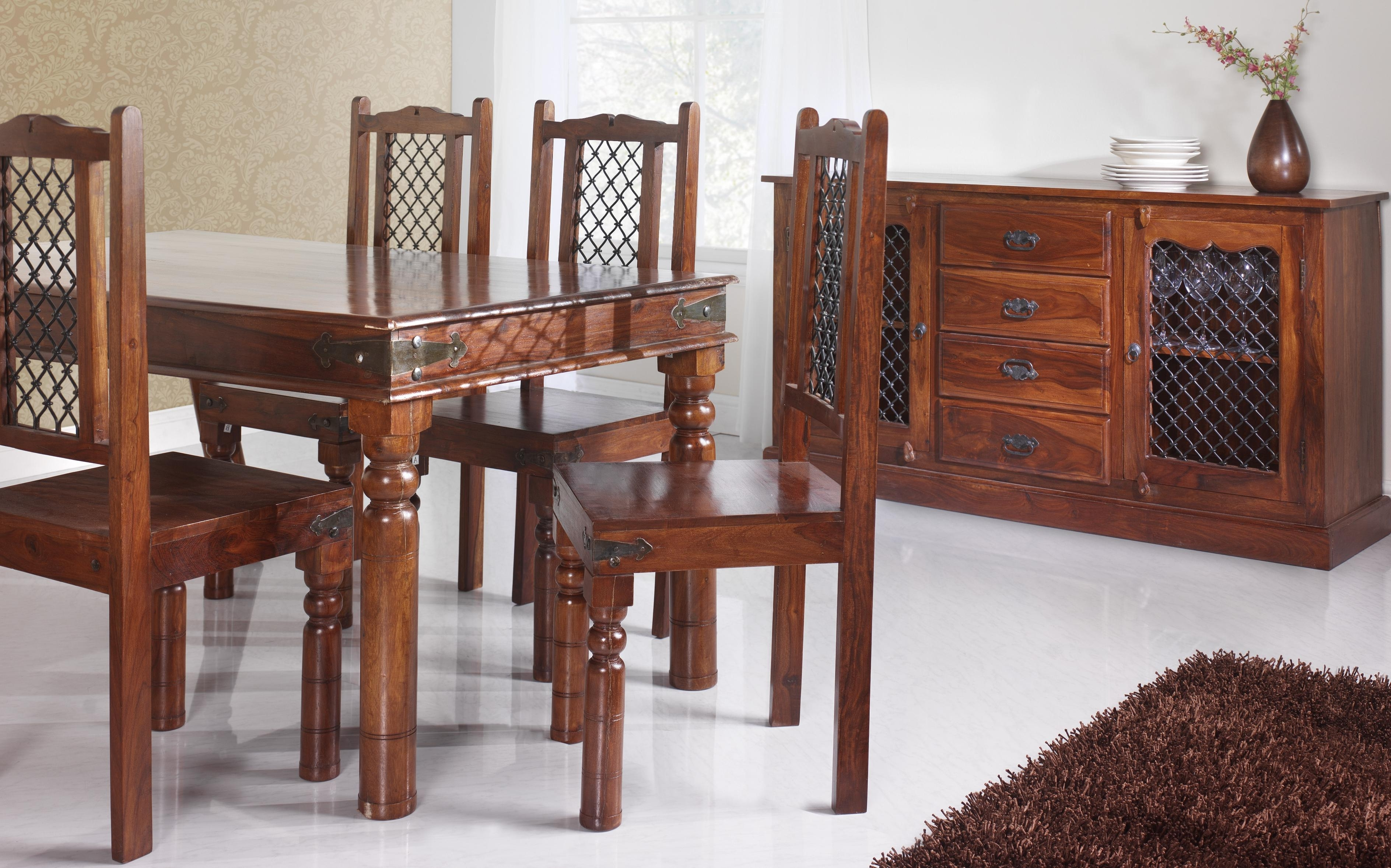 Sheesham Dining Tables And 4 Chairs In Preferred Dining Tables At Aintree Liquidation Centre (View 21 of 25)