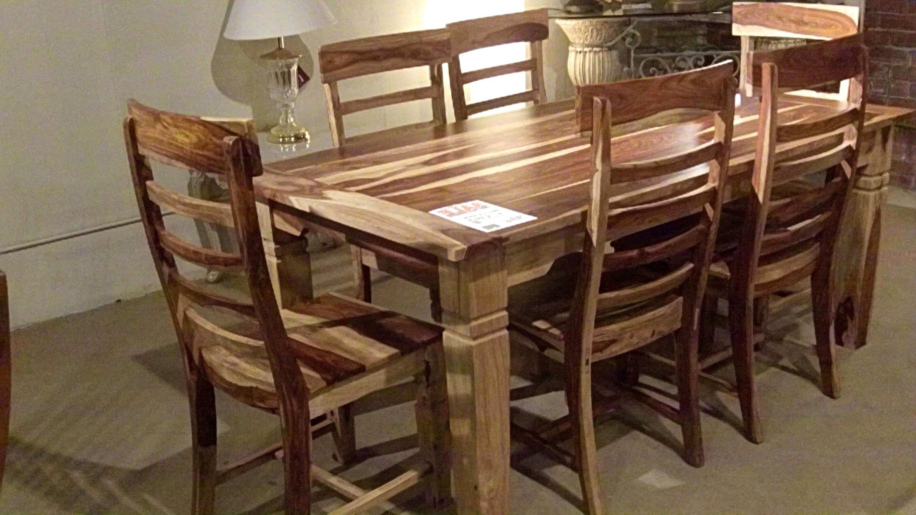 Sheesham Dining Tables With Newest Phenomenal Sheesham Wood Dining Table Cm (View 19 of 25)