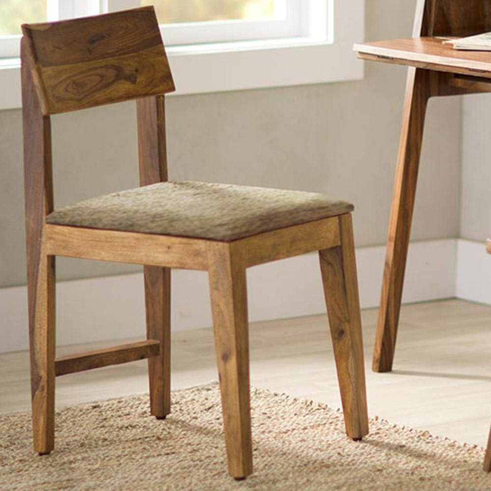 Sheesham Wood Cushioned Dining Chair (View 25 of 25)