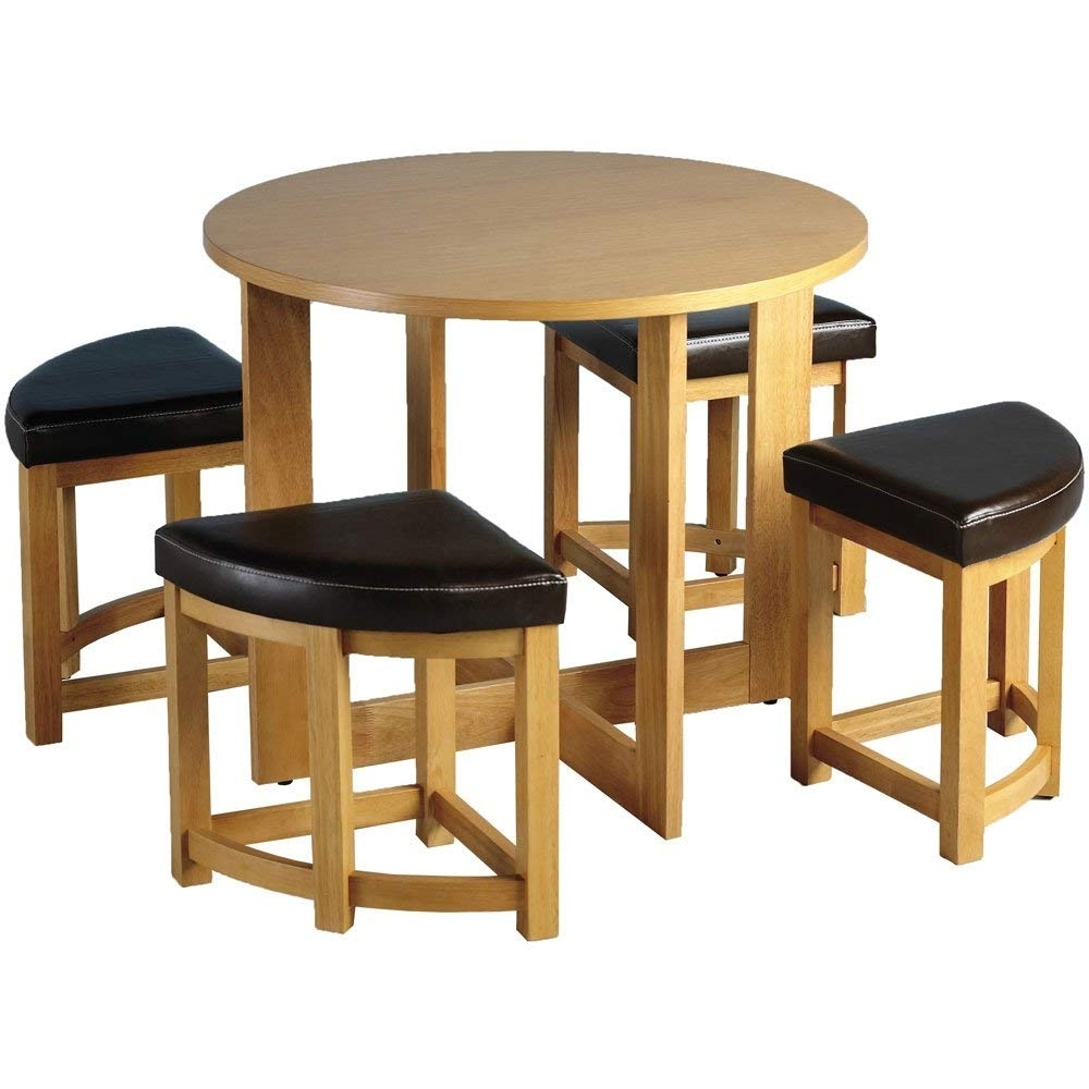 Sherwood Stowaway Dining Table Set With 4 Chairs: Amazon.co (View 12 of 25)