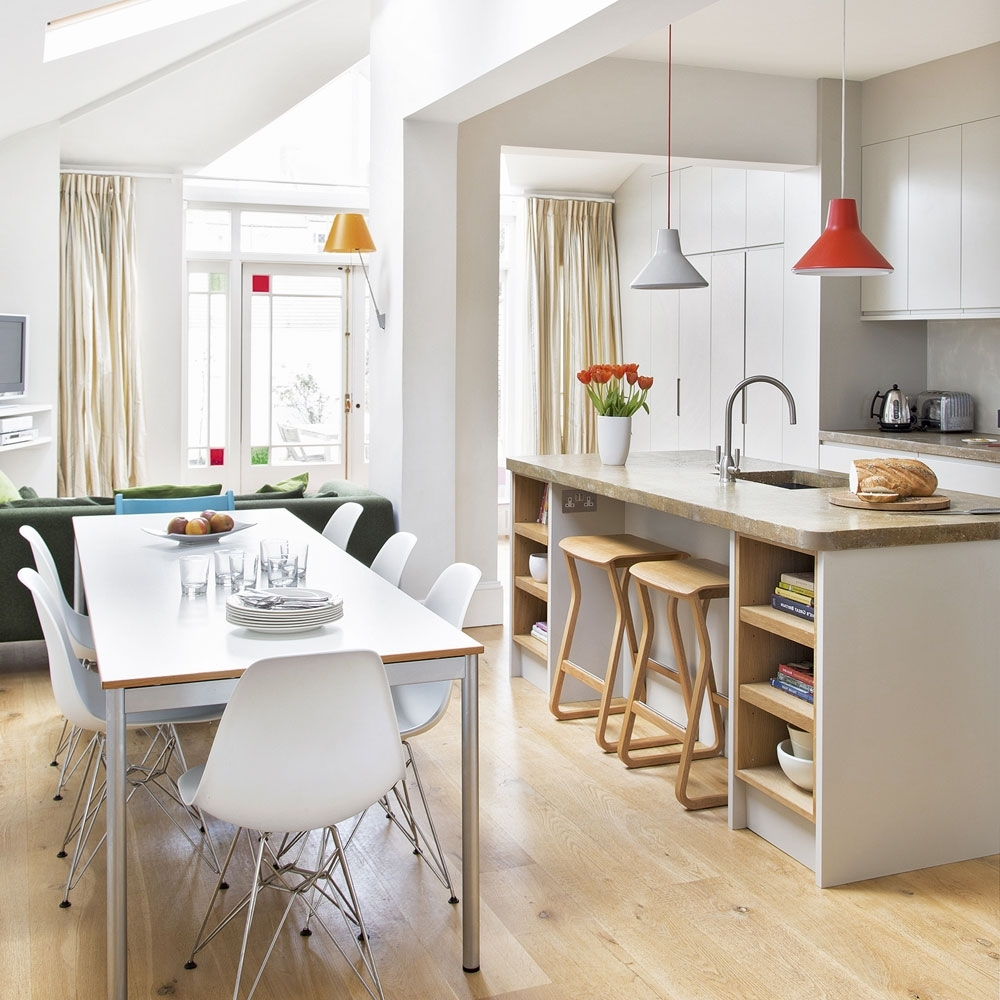 Shiny White Dining Tables Pertaining To Widely Used White Kitchens For Every Style And Budget (View 22 of 25)