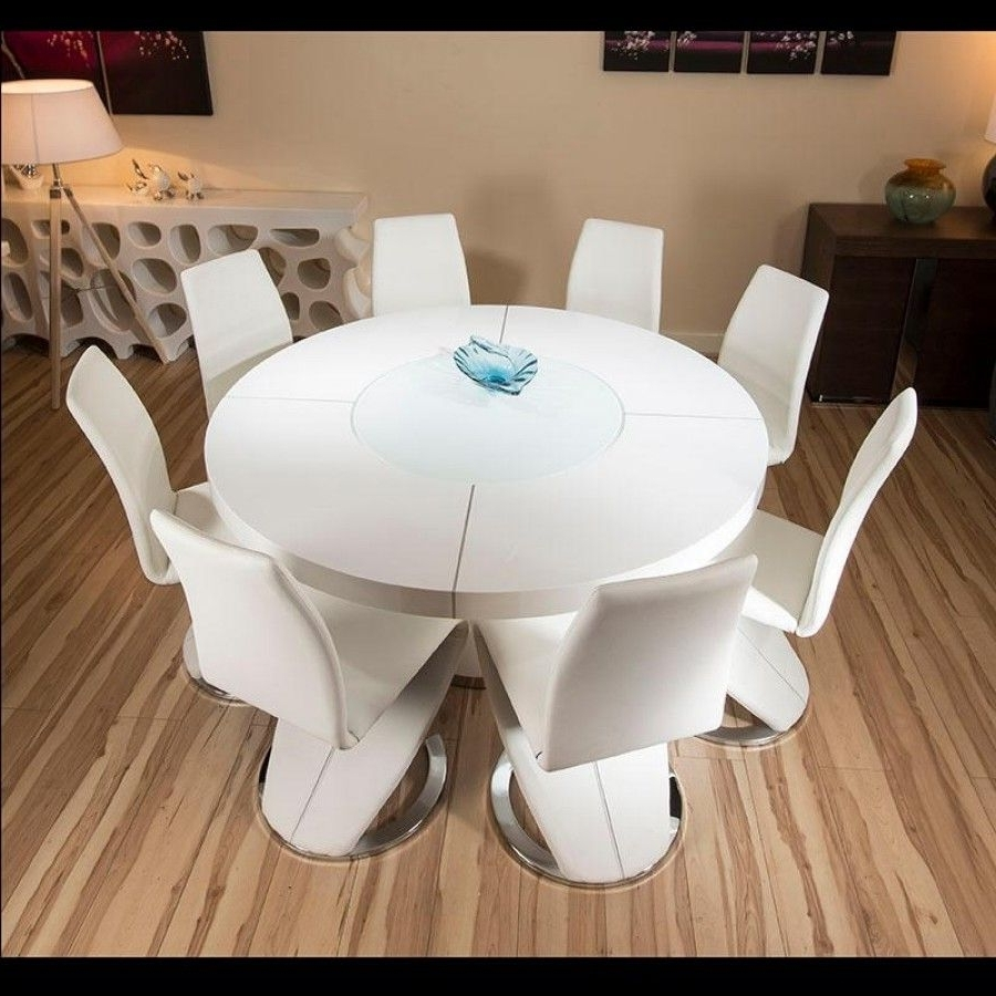 Featured Photo of Large White Round Dining Tables