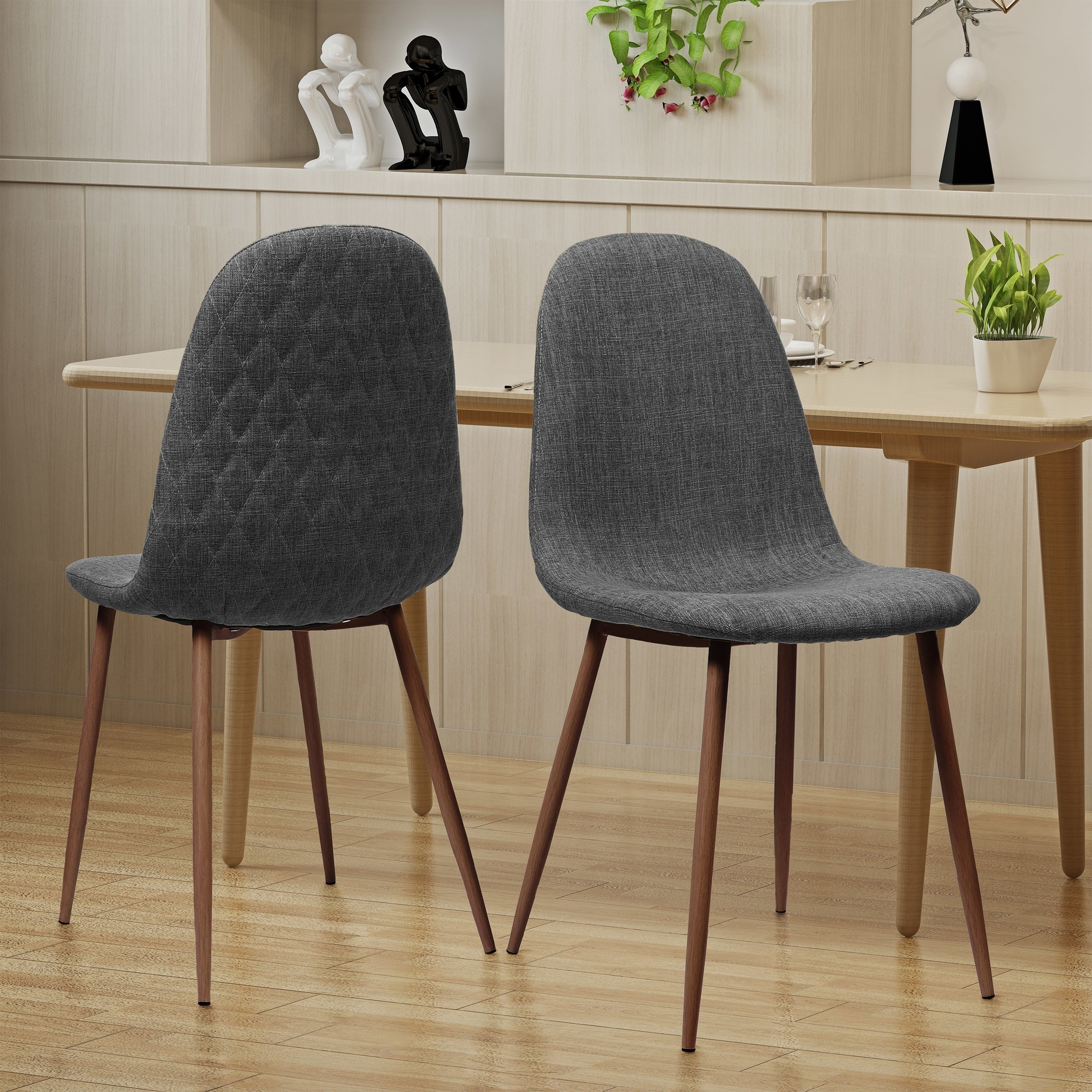Shop Caden Mid Century Fabric Dining Chair (Set Of 2)Christopher Inside 2017 Caden 5 Piece Round Dining Sets With Upholstered Side Chairs (View 5 of 25)