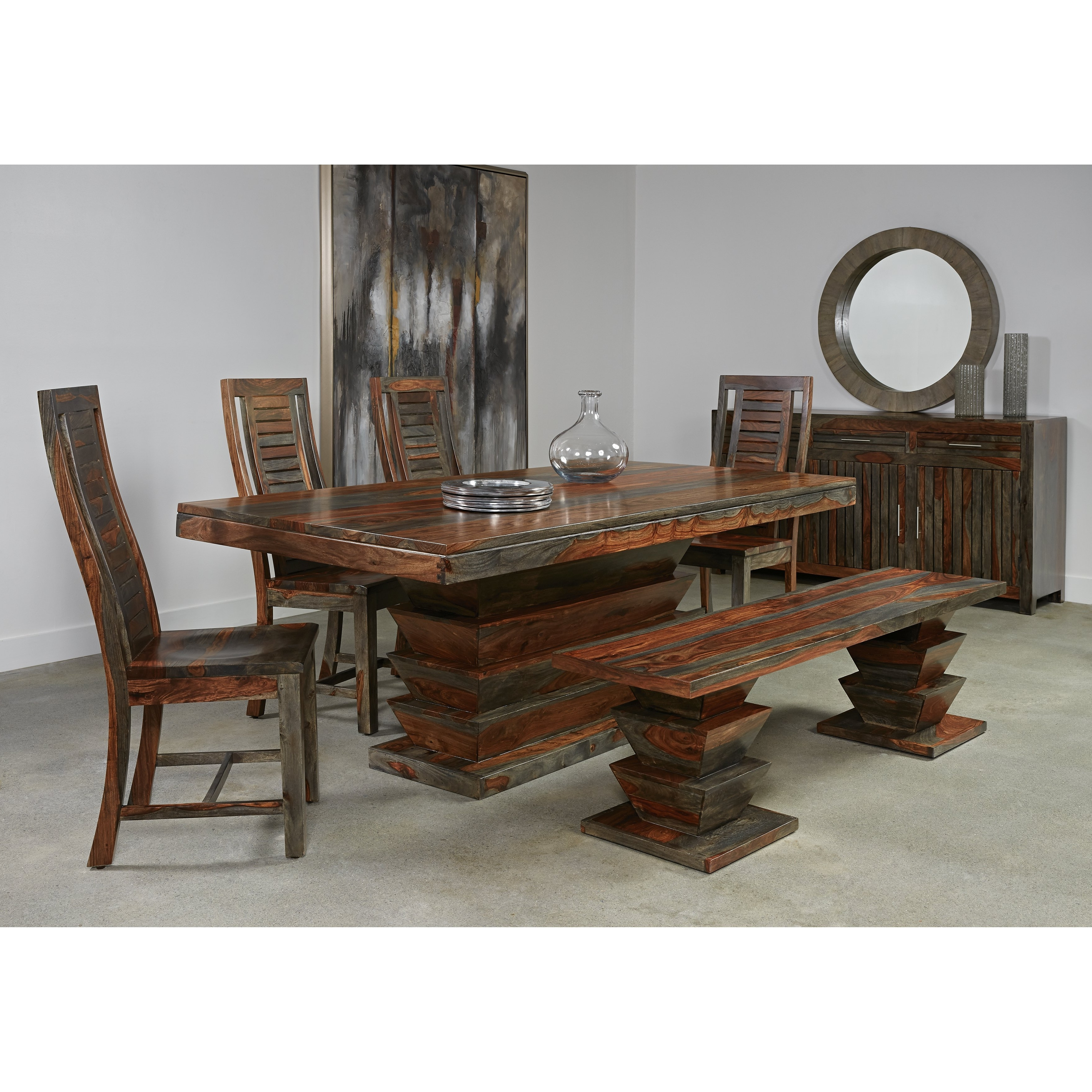 Shop Christopher Knight Home Olive Grey Sheesham Dining Table – Free Within Most Popular Sheesham Dining Tables (View 8 of 25)