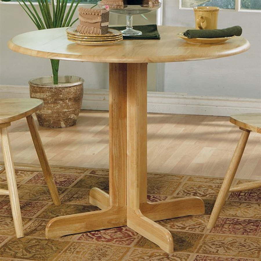 Shop Coaster Fine Furniture Wood Round Extending Dining Table At Intended For Popular Helms Round Dining Tables (View 9 of 25)