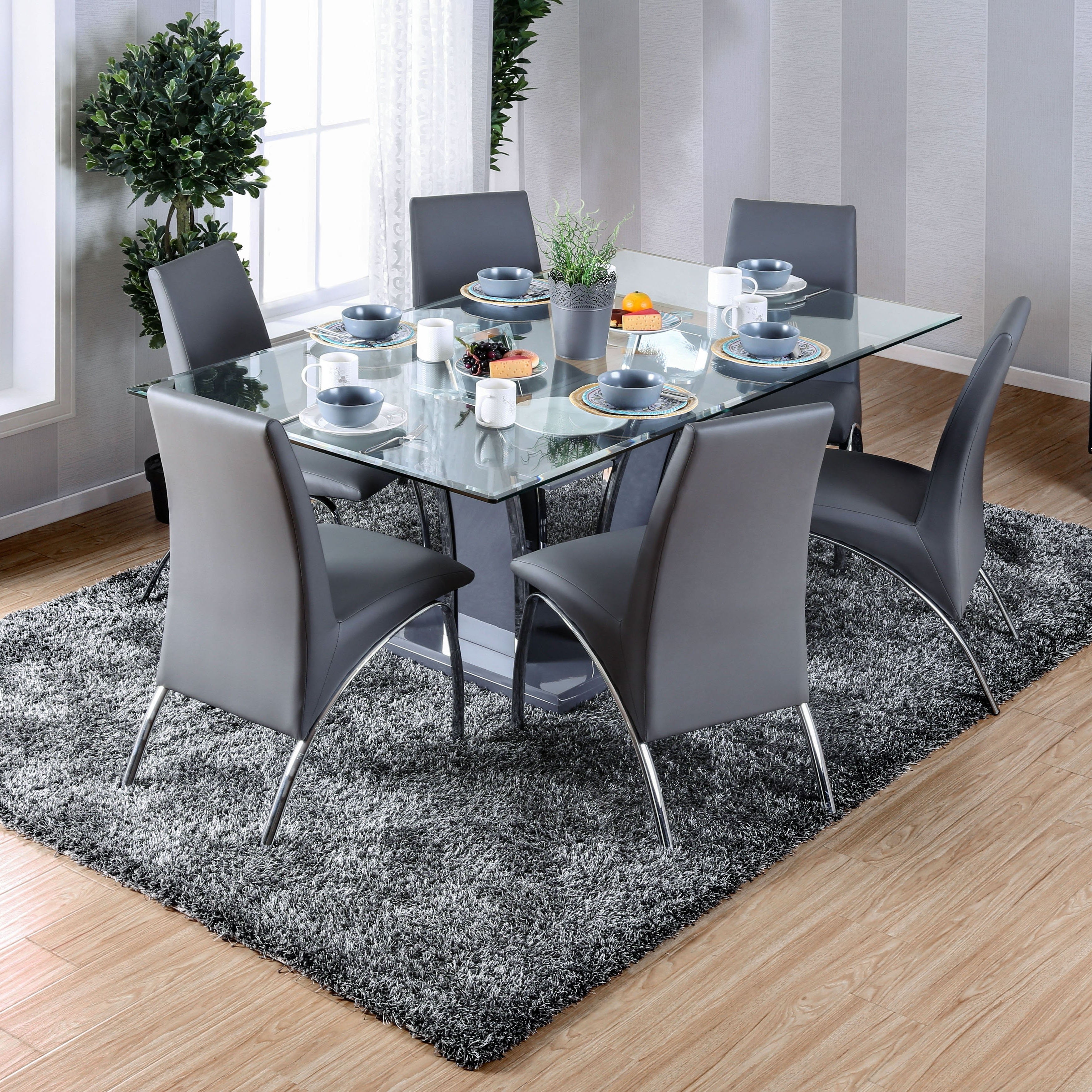 Featured Photo of Grey Glass Dining Tables