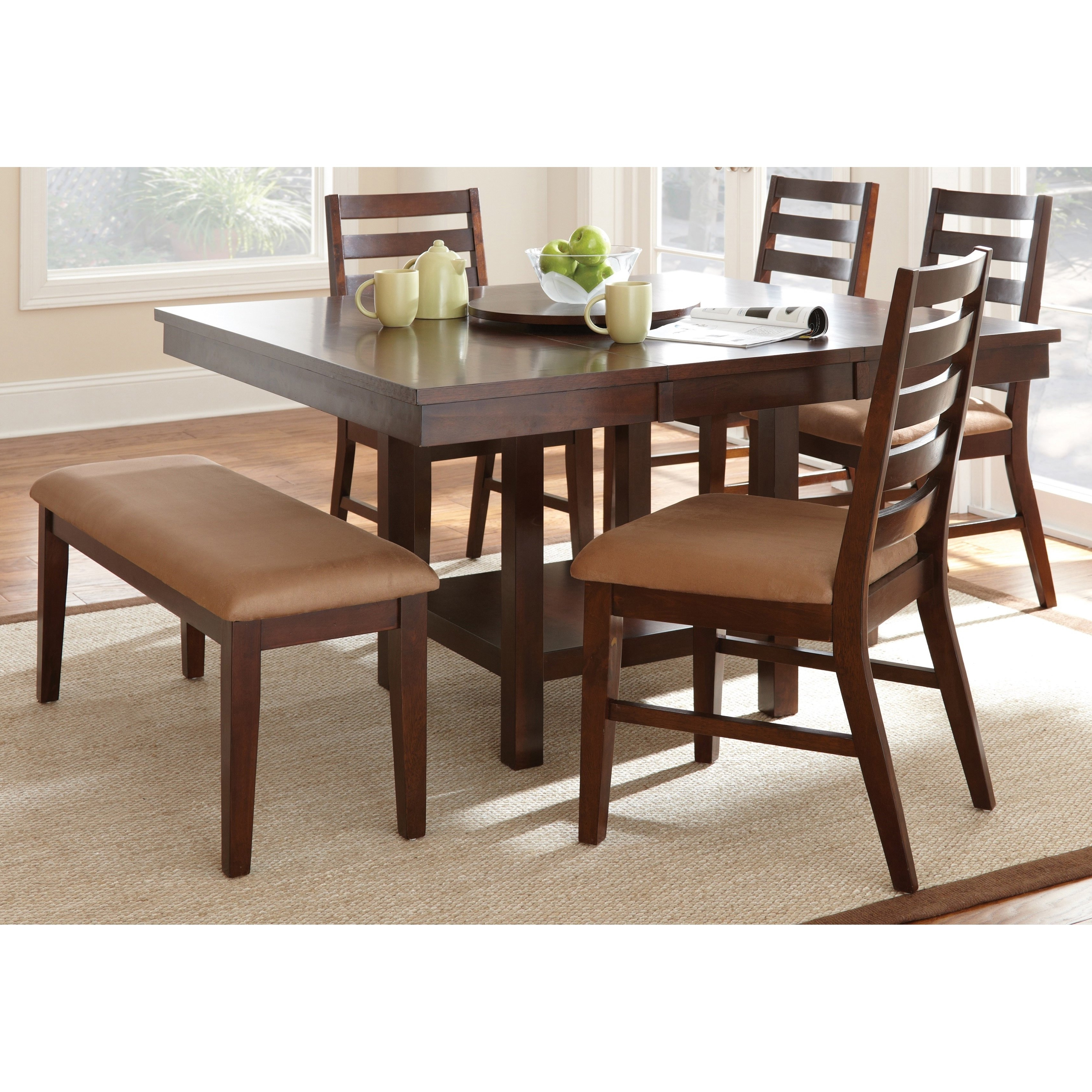 Shop Greyson Living Emery With Lazy Susan Dining Table Set – Ships Regarding Best And Newest Leon 7 Piece Dining Sets (View 24 of 25)
