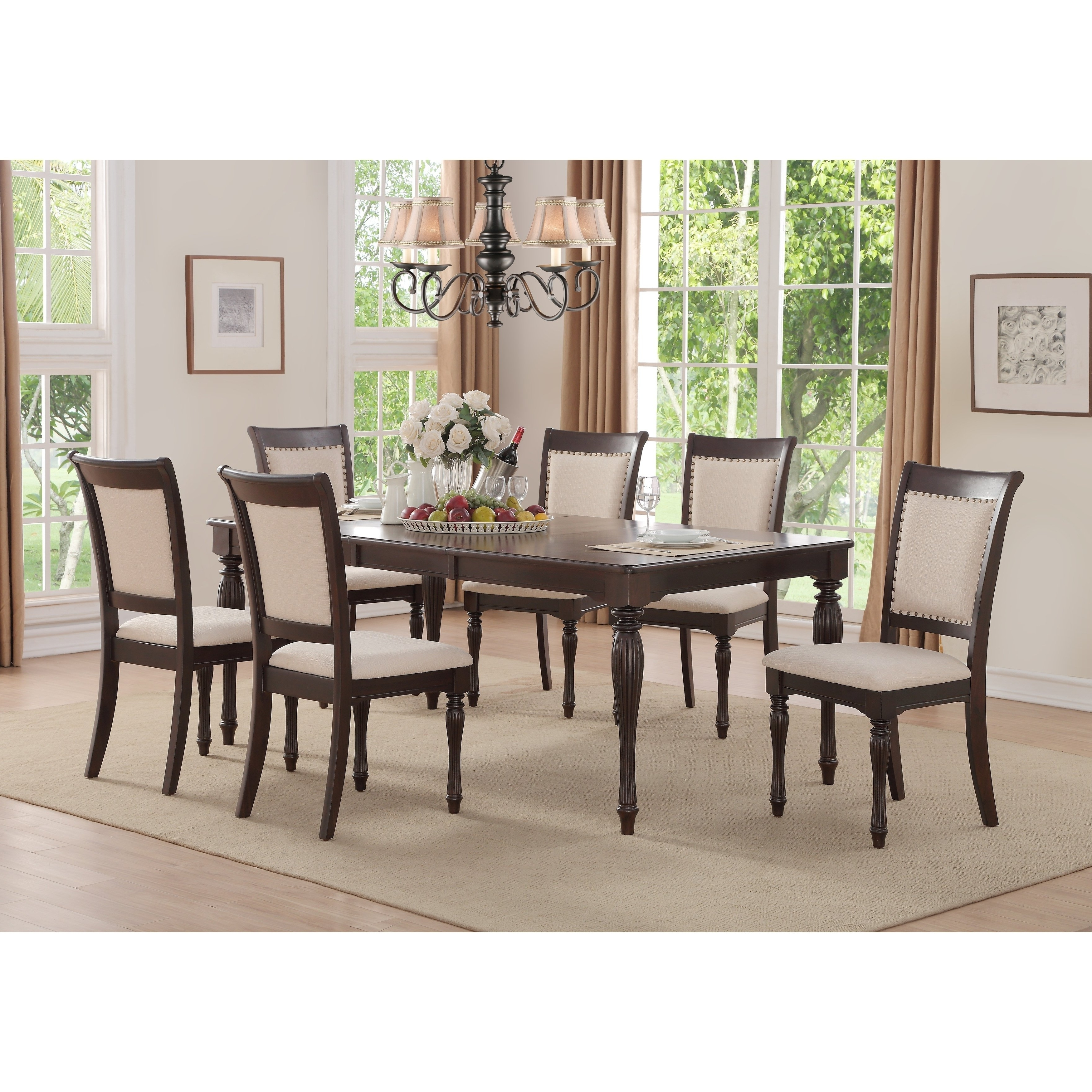 Shop Home Source Penelope Ivory 5 Piece Dining Set With 1 Table And Inside Favorite Caden 6 Piece Rectangle Dining Sets (View 20 of 25)