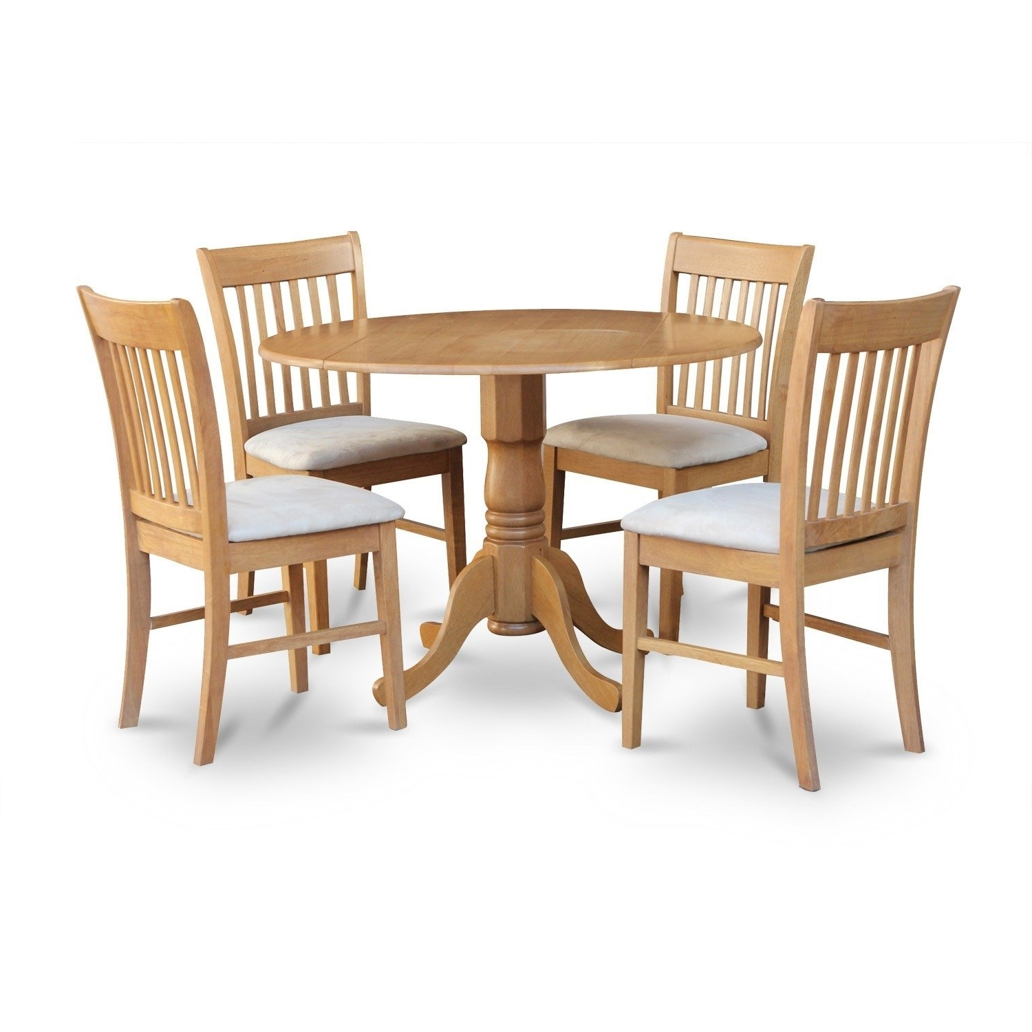 Shop Oak Round Kitchen Table And 4 Chairs 5 Piece Dining Set – Free With Preferred Round Oak Dining Tables And 4 Chairs (View 18 of 25)