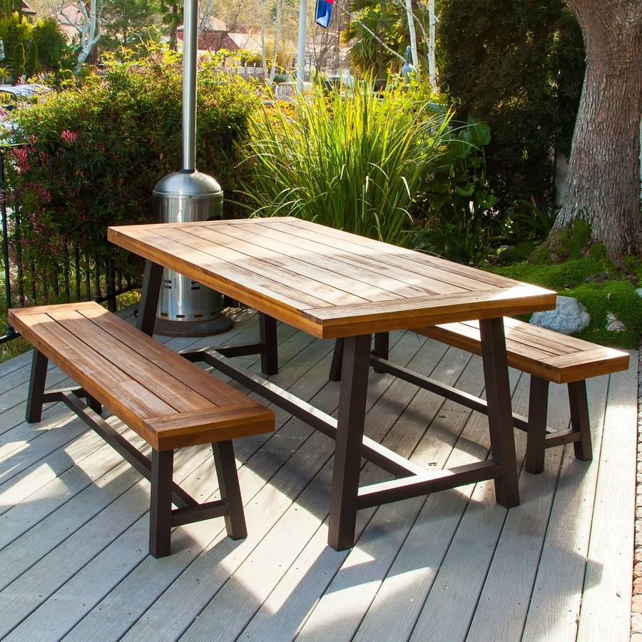 Shop Patio Dining Sets At Lowes With Regard To Latest Outdoor Dining Table And Chairs Sets (View 21 of 25)