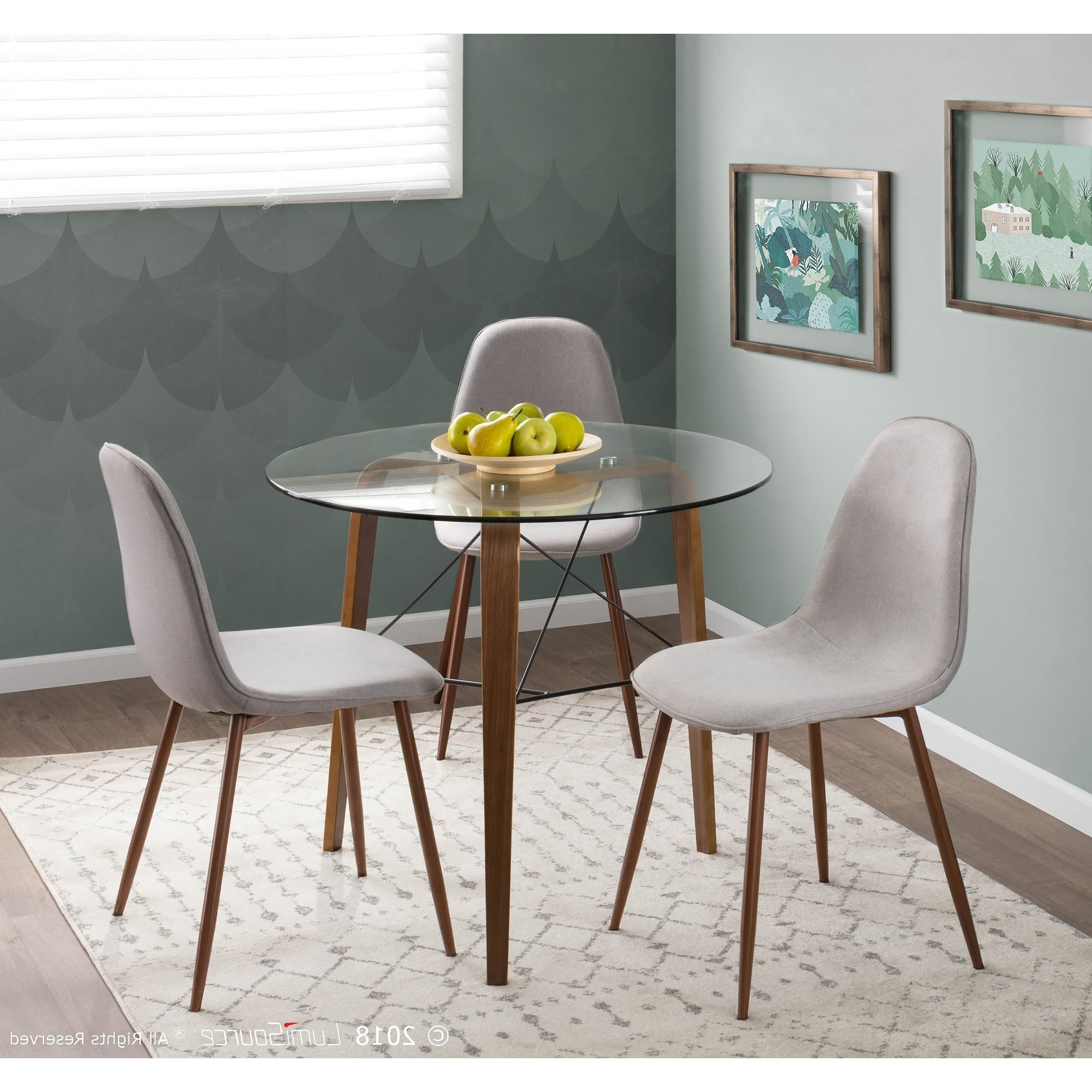 Shop Pebble Mid Century Modern Upholstered Accent / Dining Chair Within Preferred Caden 6 Piece Dining Sets With Upholstered Side Chair (View 13 of 25)
