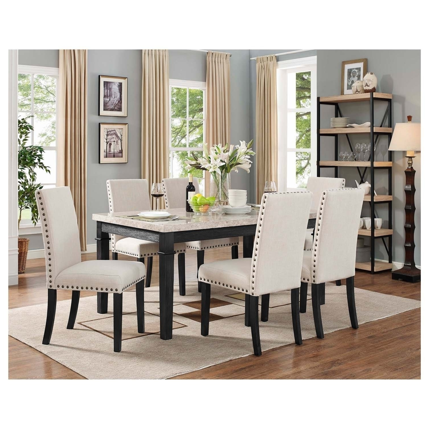 Shop Picket House Furnishings Bradley 7Pc Dining Set Table & 6 In Well Known Gavin 6 Piece Dining Sets With Clint Side Chairs (View 21 of 25)