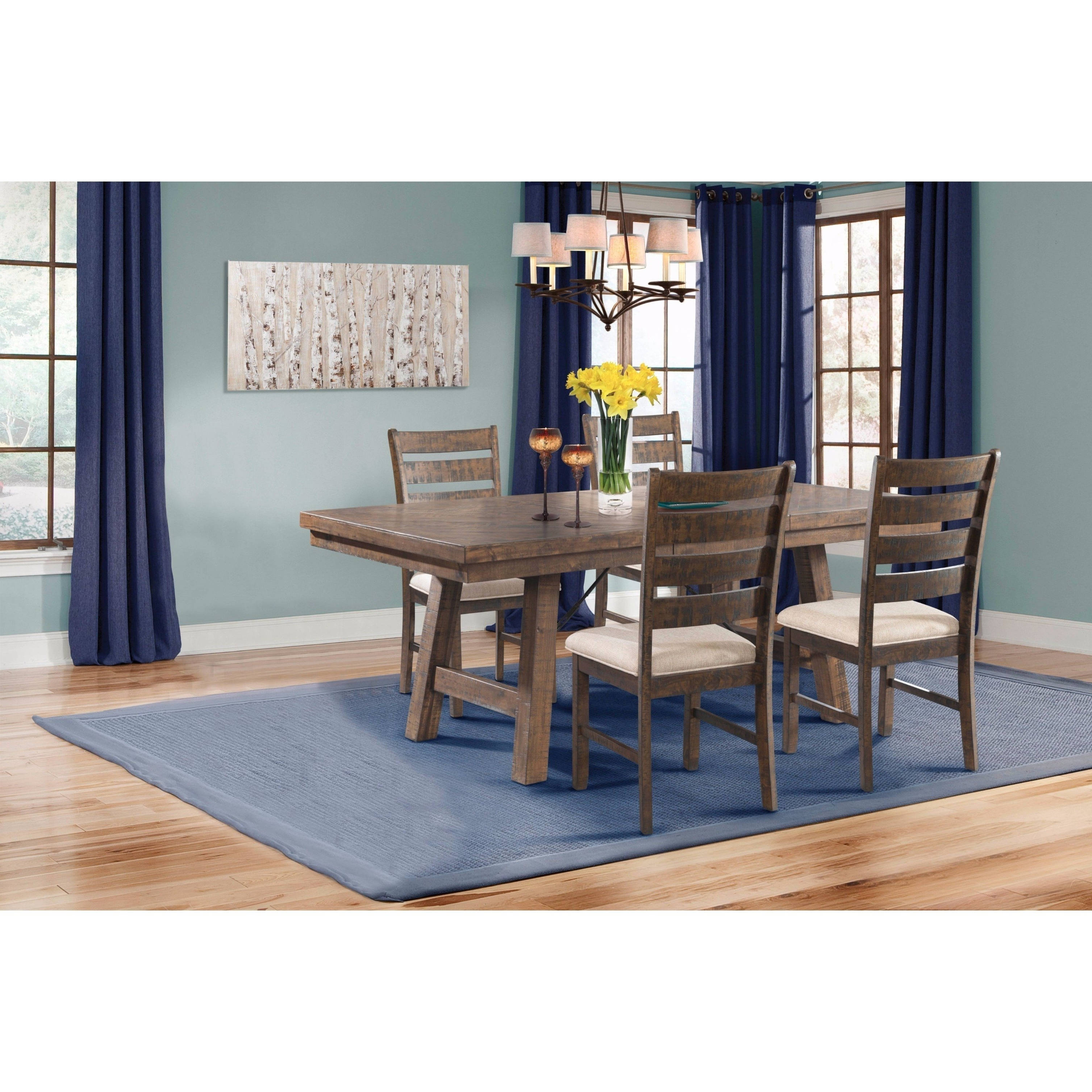 Shop Picket House Furnishings Dex 5Pc Dining Set Table, 4 Ladder With Regard To Famous Caden 7 Piece Dining Sets With Upholstered Side Chair (View 12 of 25)