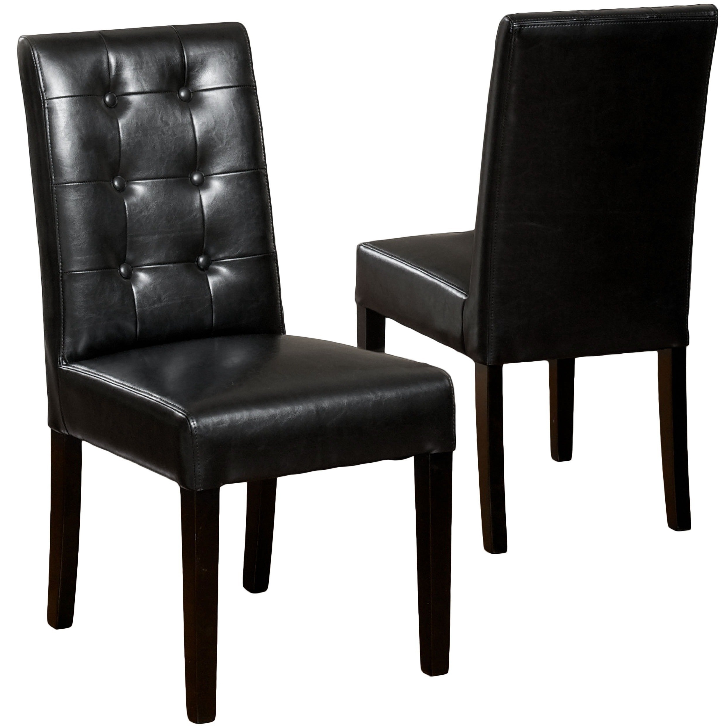 Shop Roland Black Leather Dining Chairs (Set Of 2)Christopher Inside Well Known Leather Dining Chairs (View 19 of 25)