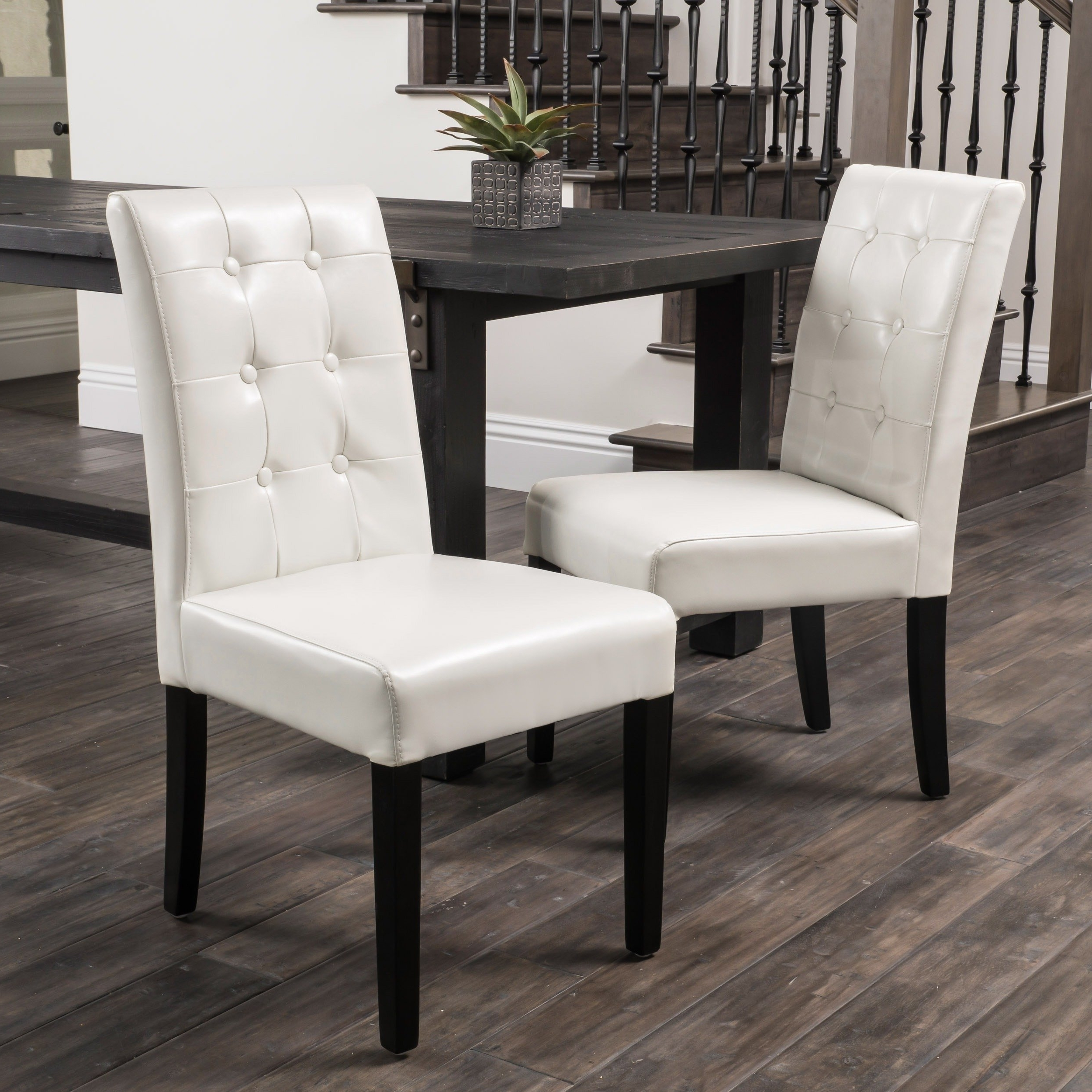 Shop Roland Ivory Leather Dining Chairschristopher Knight Home Inside Well Known Ivory Leather Dining Chairs (View 3 of 25)