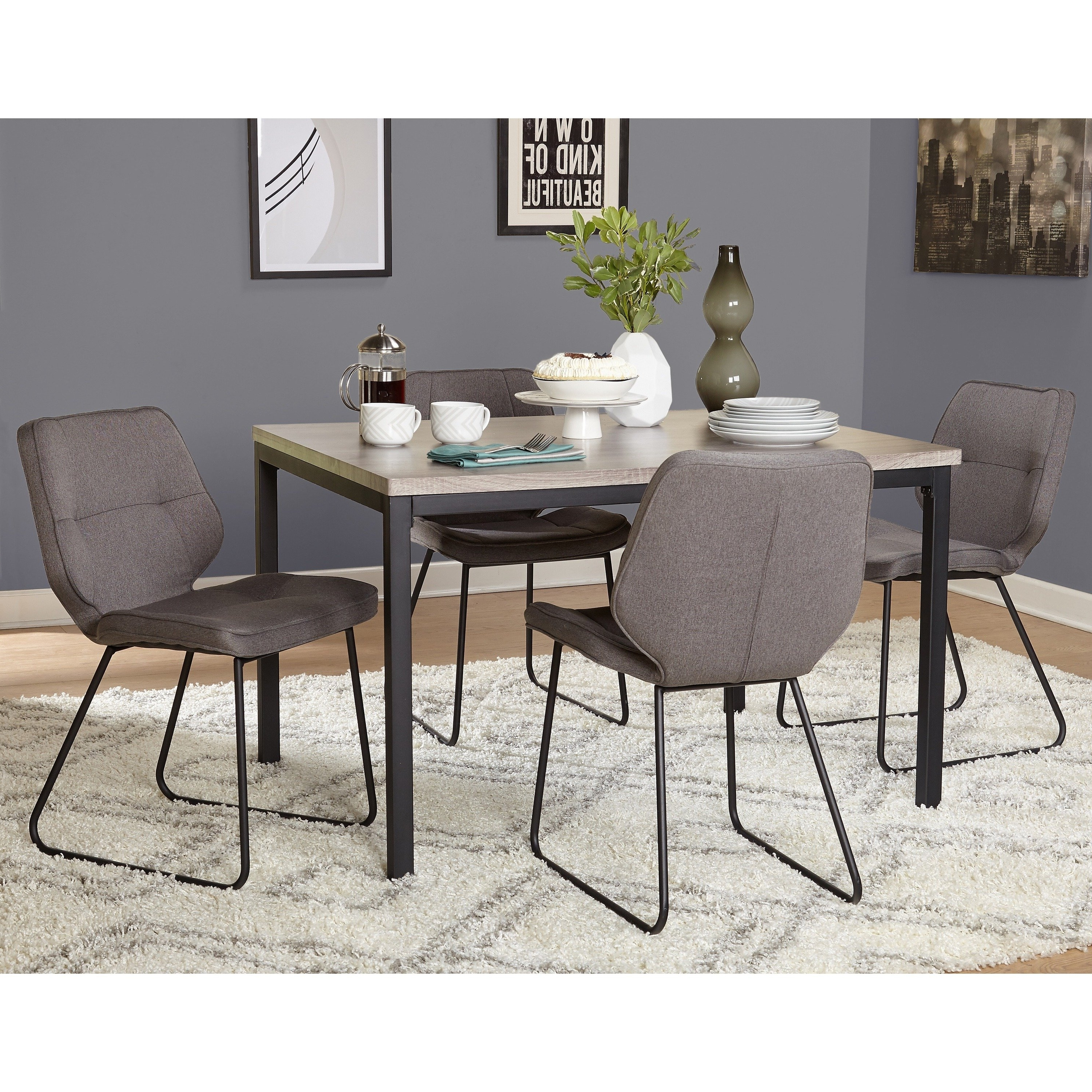 Shop Simple Living 5 Piece Kaden Dining Set – Free Shipping Today With Recent Caden 6 Piece Rectangle Dining Sets (View 21 of 25)