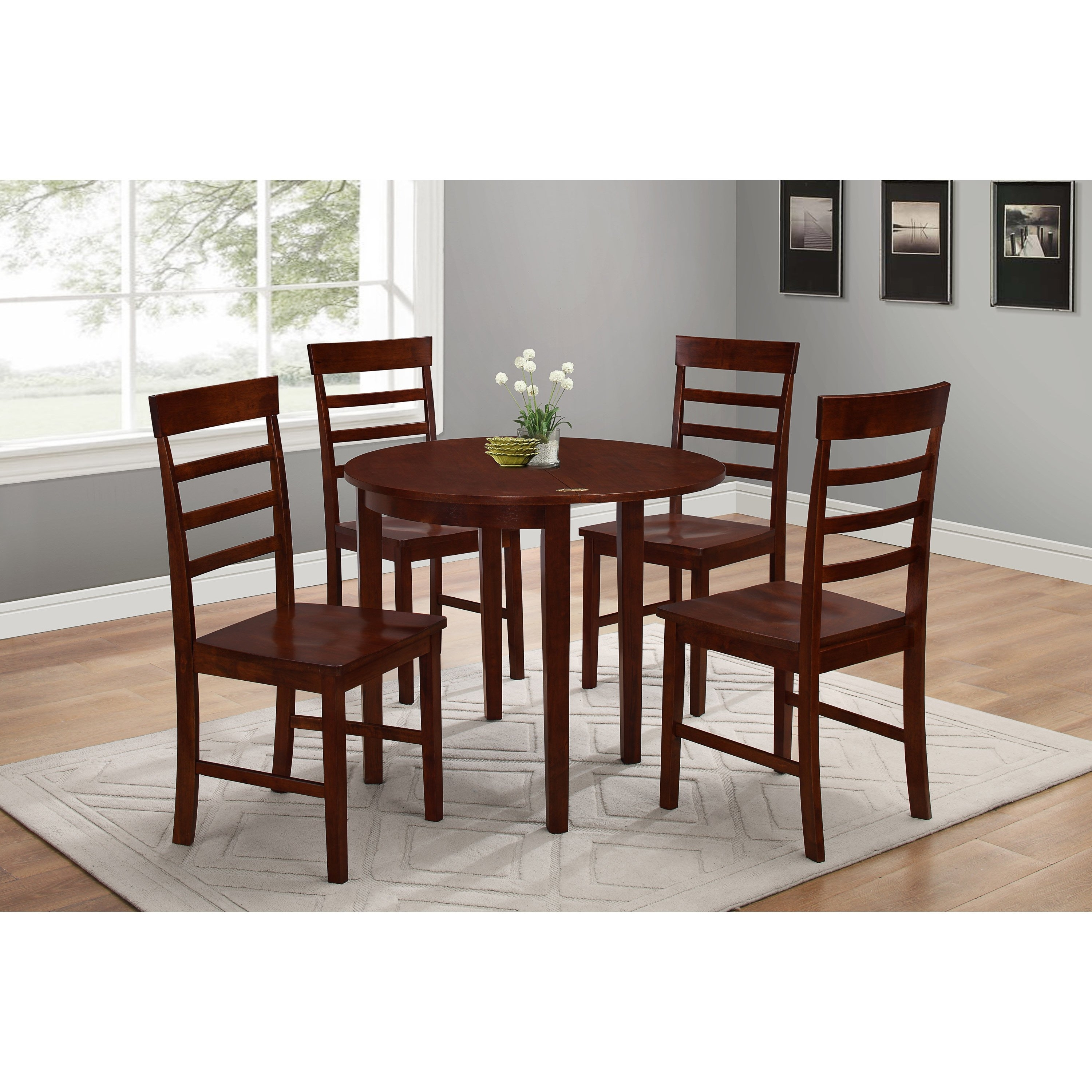 Shop Springfield Flip Antique Oak Half Moon Table – Free Shipping Throughout Favorite Half Moon Dining Table Sets (View 19 of 25)