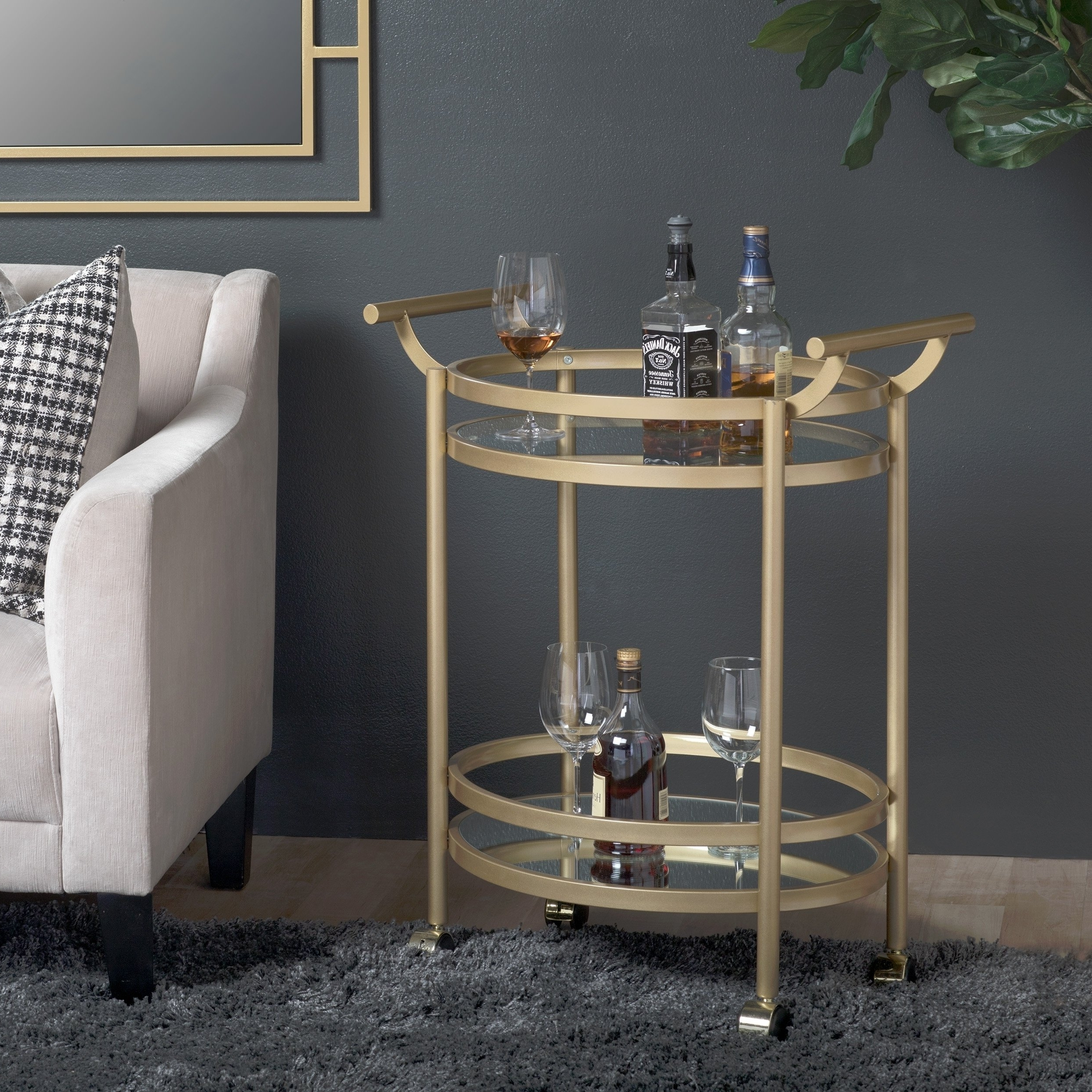 Shop Studio Designs Home Palazzo 2 Tier Oval Bar / Serving Cart – On With Well Known Palazzo Rectangle Dining Tables (View 21 of 25)