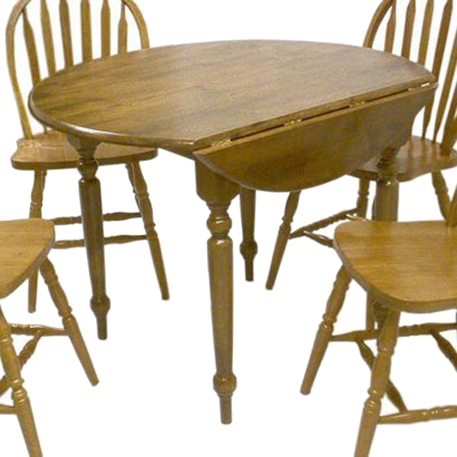 Shop Tms Furniture Oak Wood Round Extending Dining Table At Lowes Pertaining To Latest Round Extending Oak Dining Tables And Chairs (View 13 of 25)