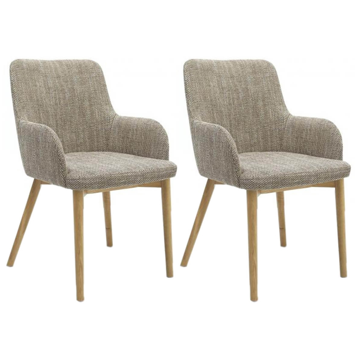 Sidcup Dining Chairs Fabric Tweed (Pair) Inside Trendy Fabric Dining Chairs (View 5 of 25)
