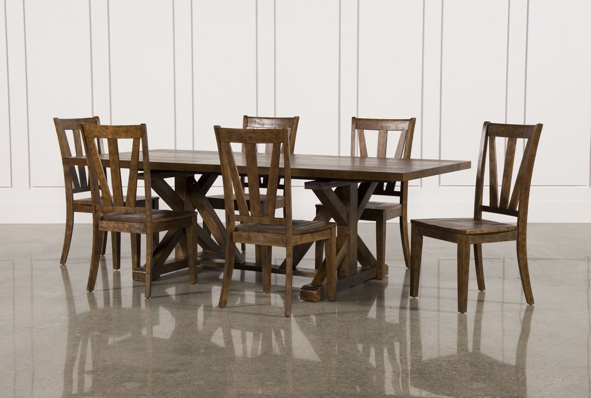 Side Inside Caden 7 Piece Dining Sets With Upholstered Side Chair (View 20 of 25)