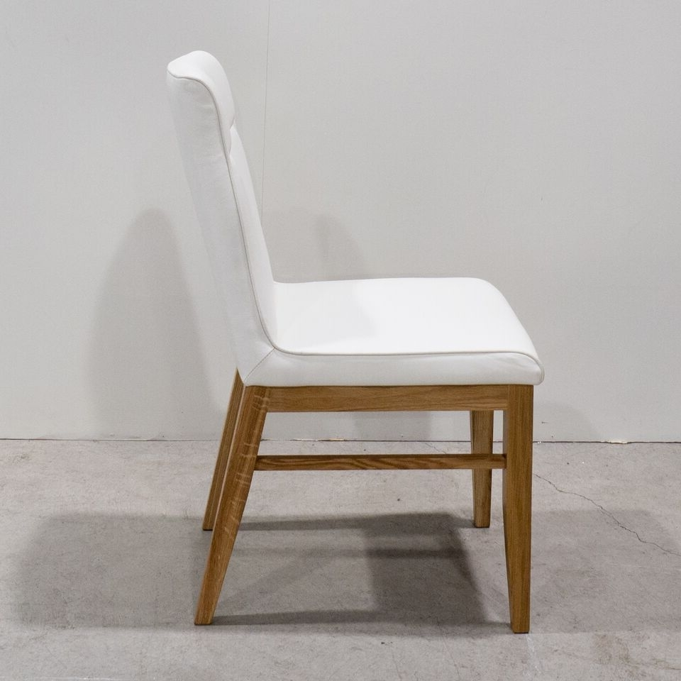 Sienna Leather Dining Chair – Oliver Birch Furniture For 2018 White Leather Dining Chairs (View 15 of 25)