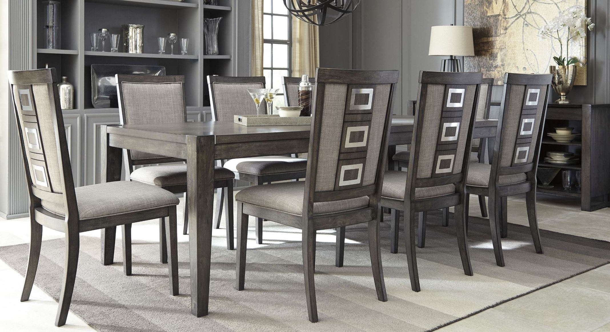 Signature Designashley Chadoni Gray Rectangular Extendable Intended For Most Up To Date Cheap Dining Room Chairs (View 20 of 25)