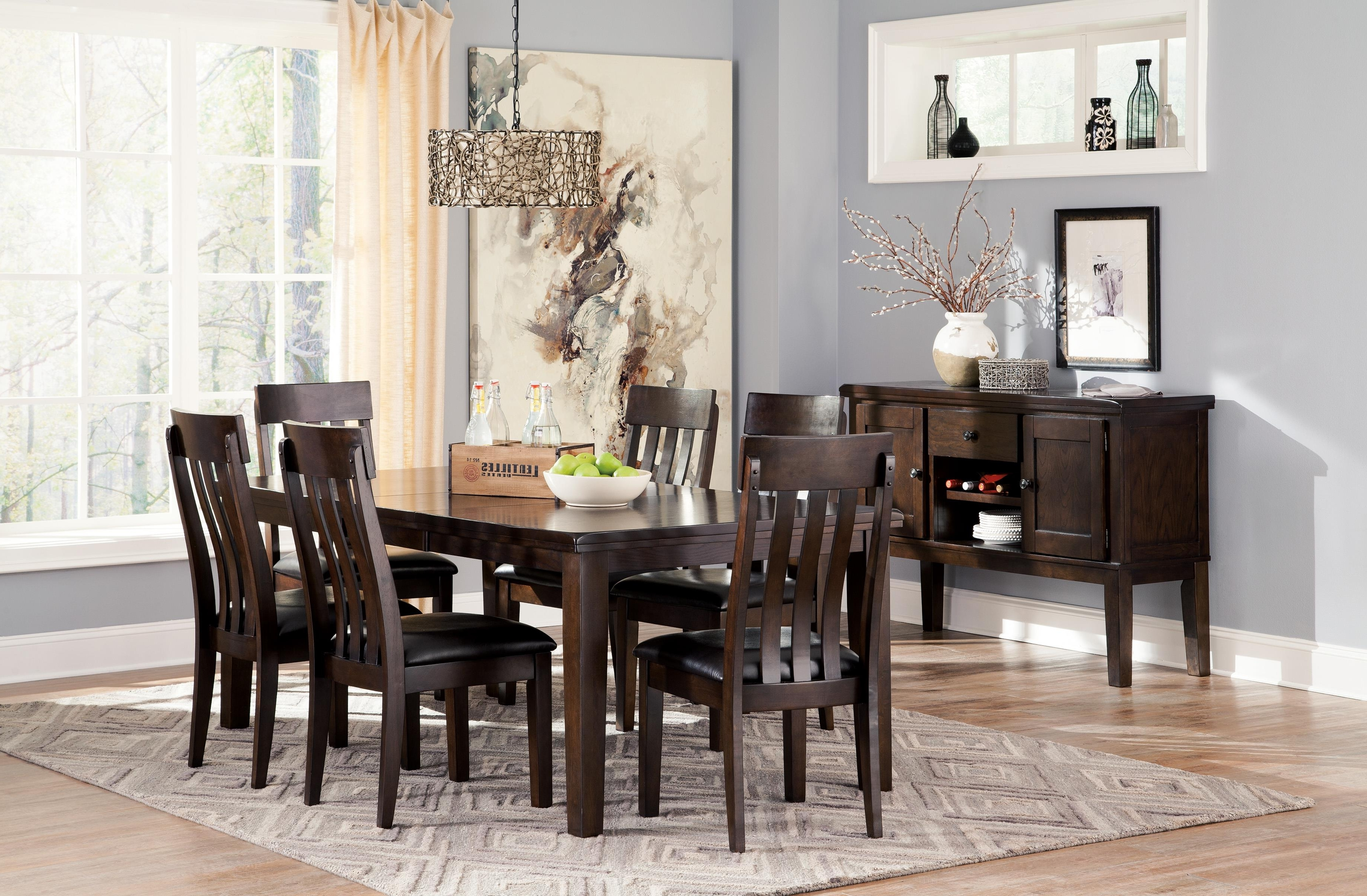 Signature Designashley Haddigan 6 Piece Rectangular Dining Room Throughout Widely Used Dark Dining Room Tables (View 20 of 25)