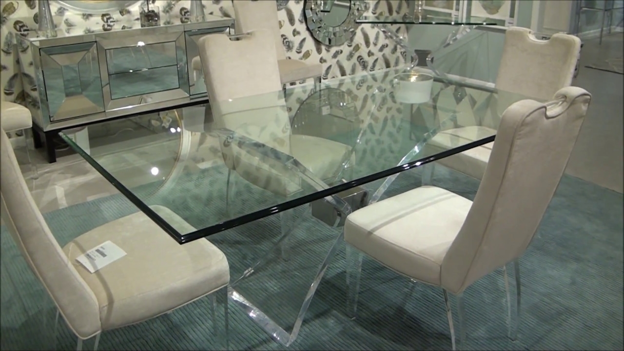 Silven Rectangle Dining Tablebassett Mirror Company – Youtube Regarding Popular Mirror Glass Dining Tables (View 20 of 25)