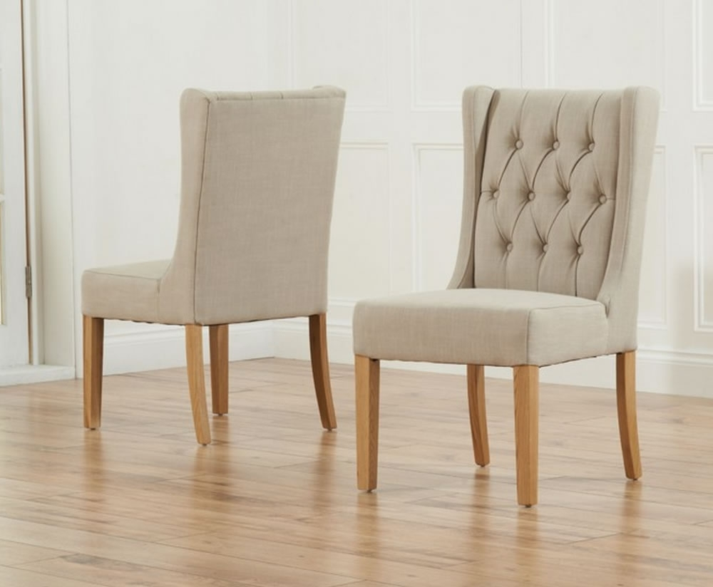 Featured Photo of Oak Fabric Dining Chairs